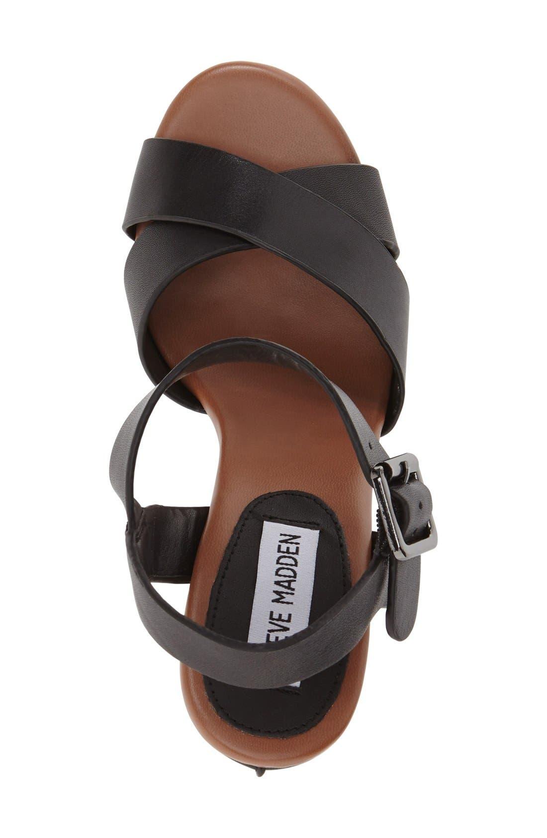 'Keviee' Wedge Sandal,                             Alternate thumbnail 3, color,                             001
