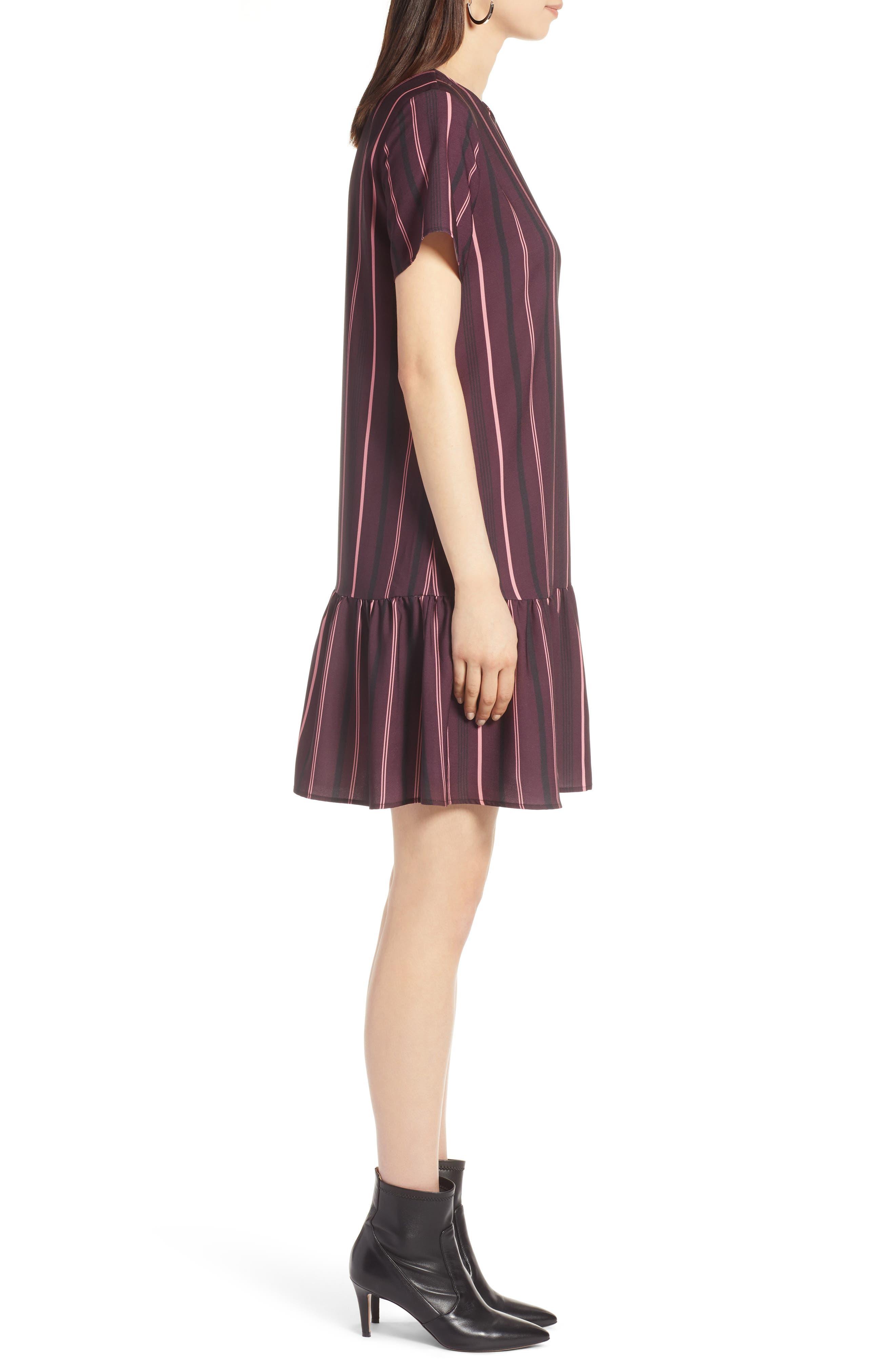 Short Sleeve Ruffle Hem Dress,                             Alternate thumbnail 19, color,