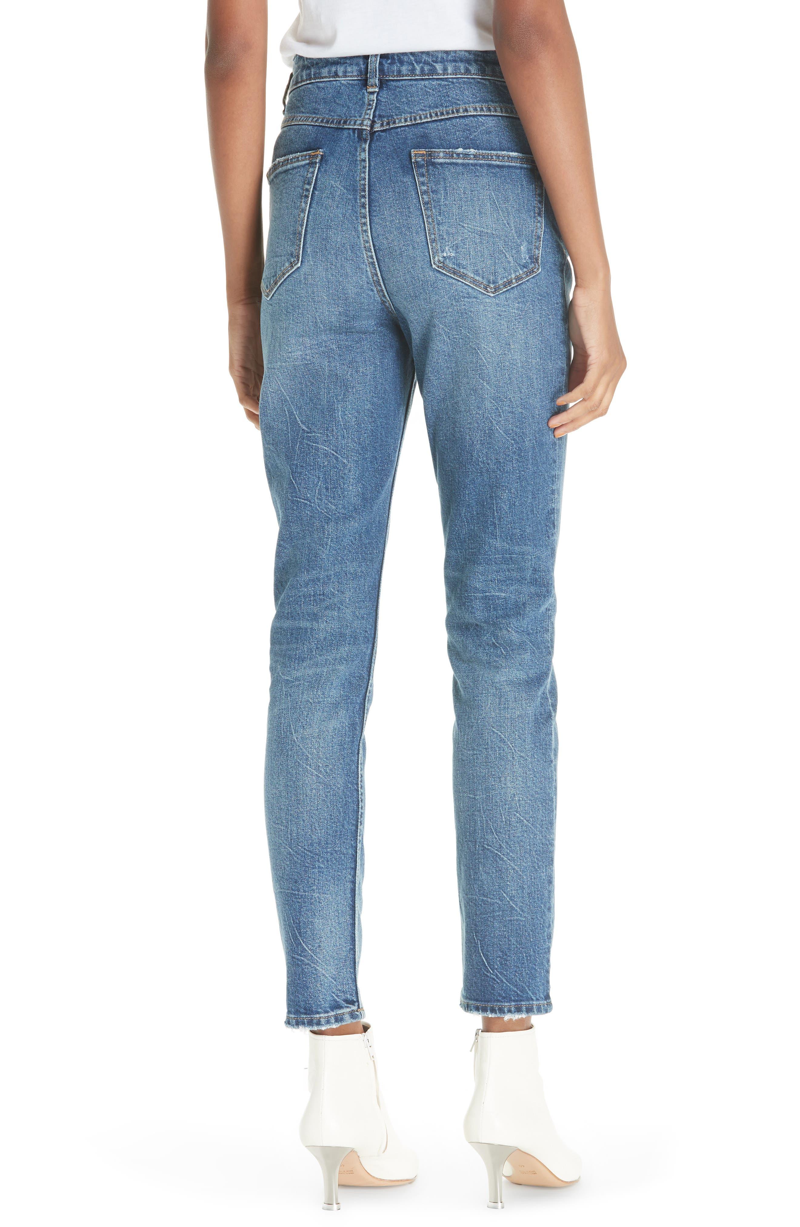 High Waist Straight Leg Jeans,                             Alternate thumbnail 2, color,                             GARWSH
