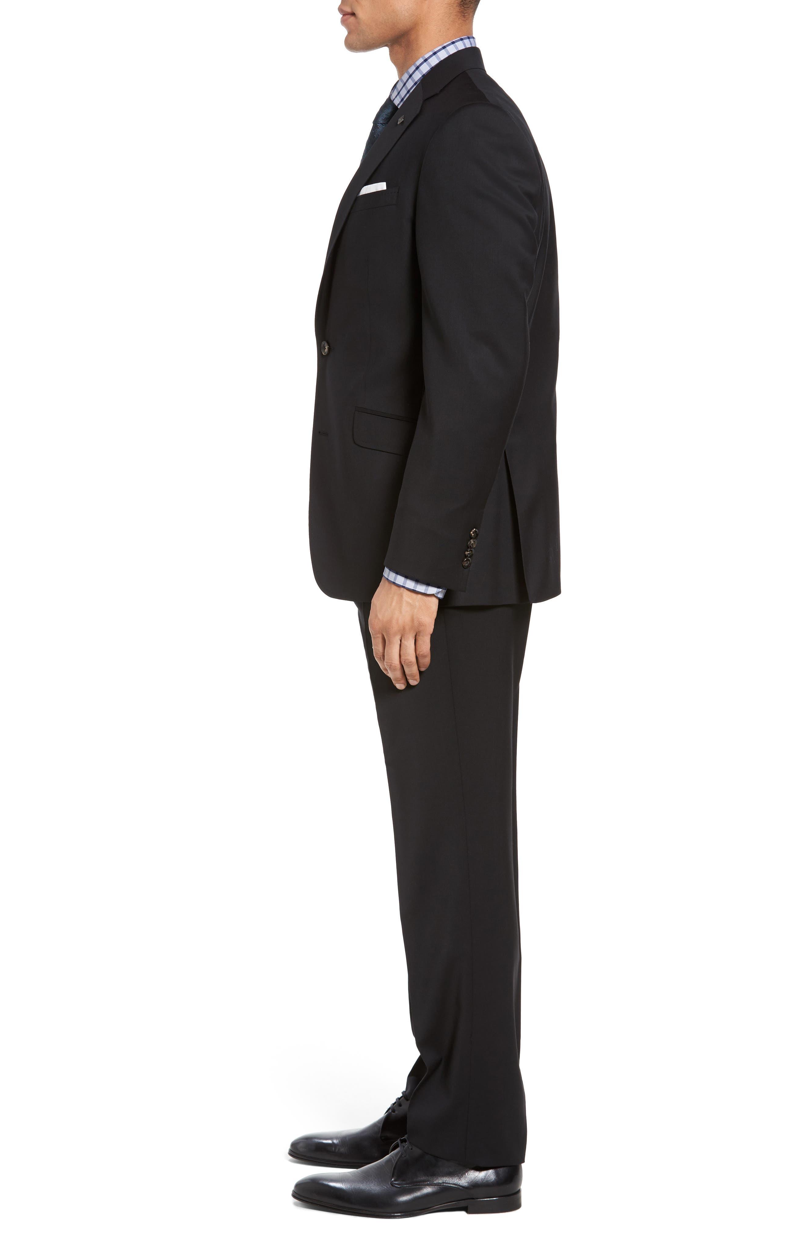Jones Trim Fit Wool Suit,                             Alternate thumbnail 3, color,                             001