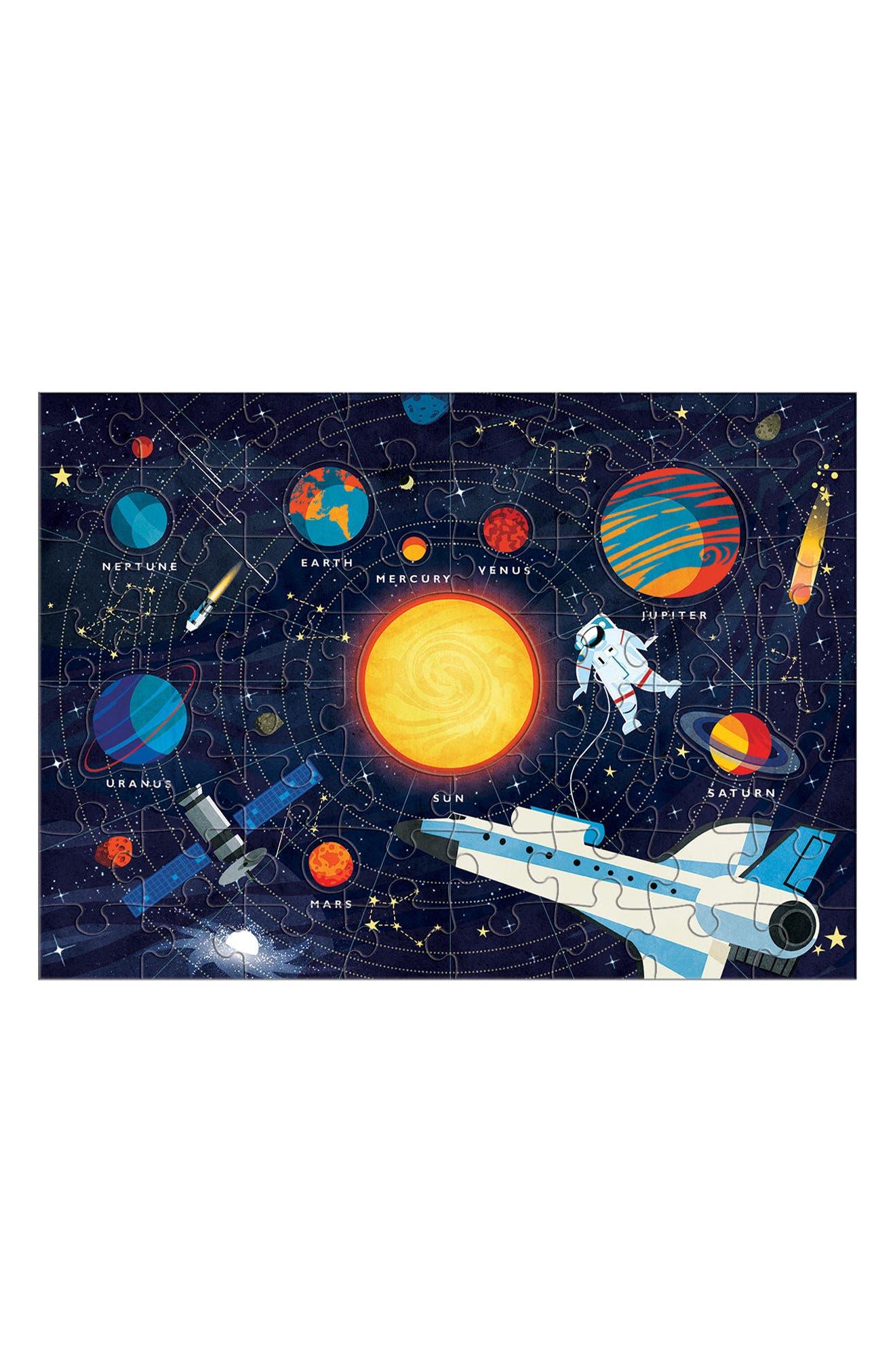 70-Piece Solar System Puzzle,                             Alternate thumbnail 2, color,                             BLUE