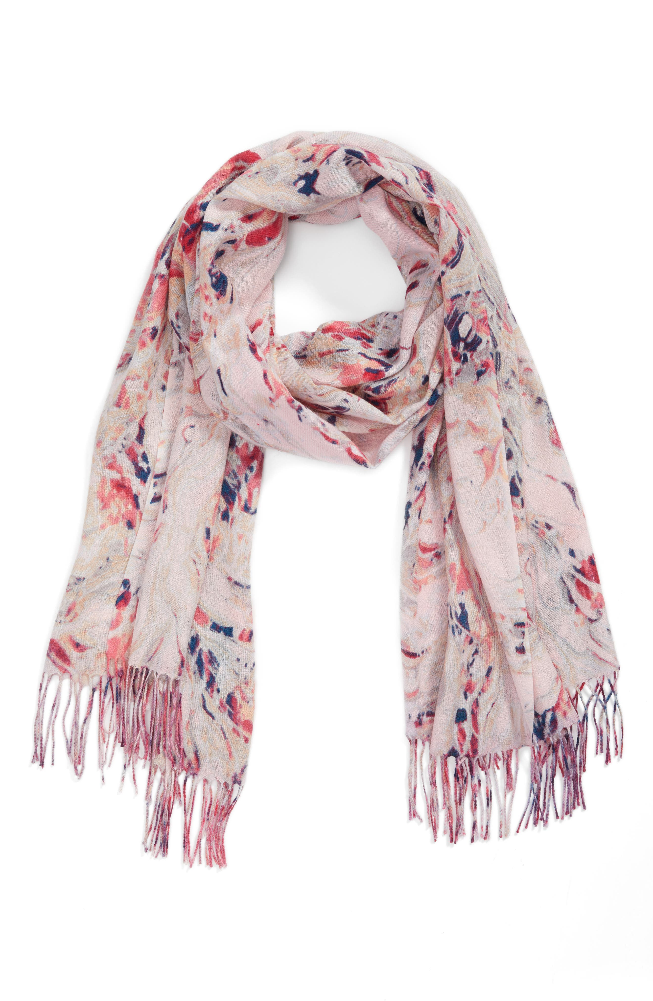 Marble Tissue Wool & Cashmere Scarf,                             Alternate thumbnail 8, color,