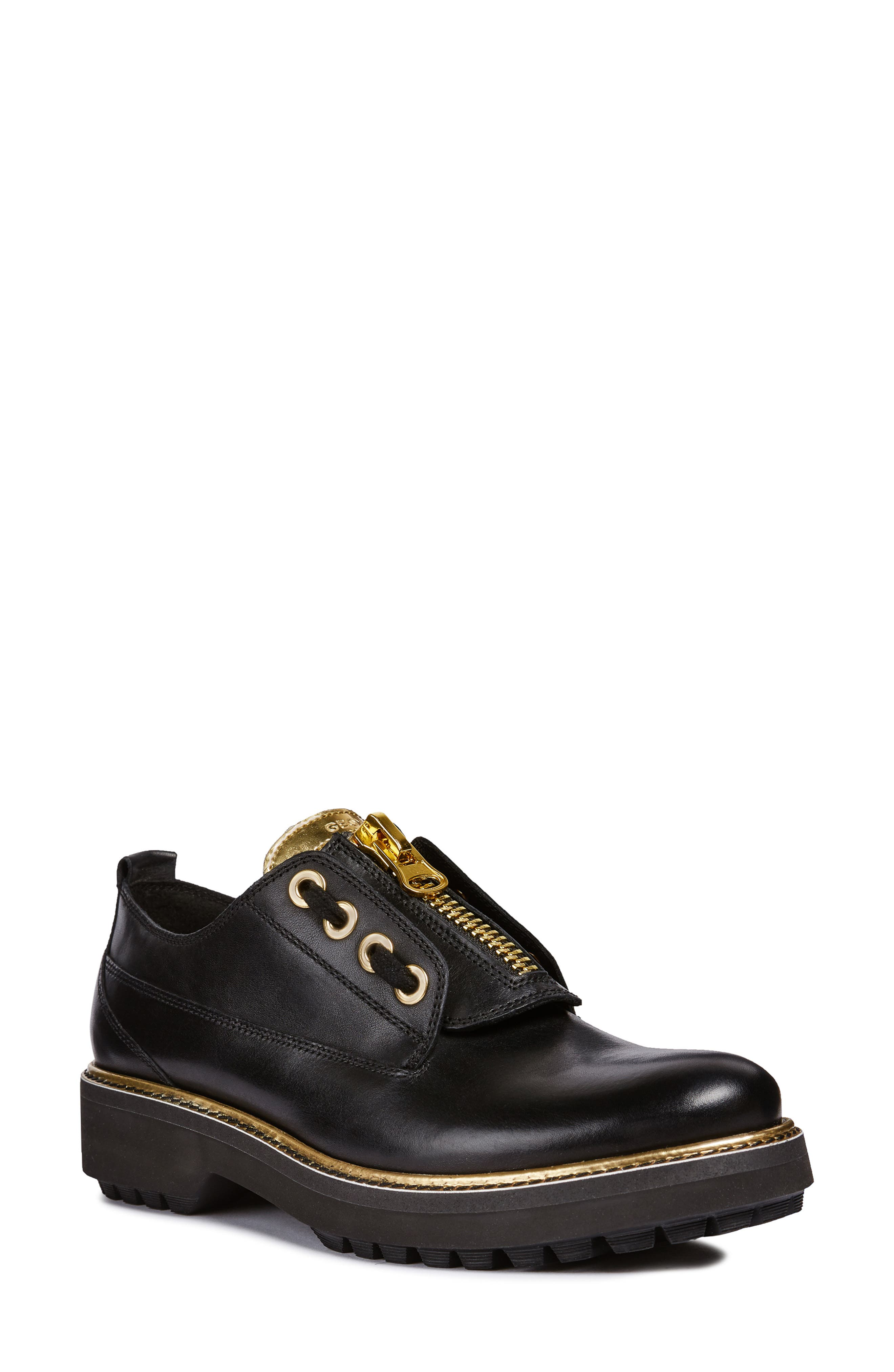 Asheely Oxford,                             Main thumbnail 1, color,                             BLACK LEATHER