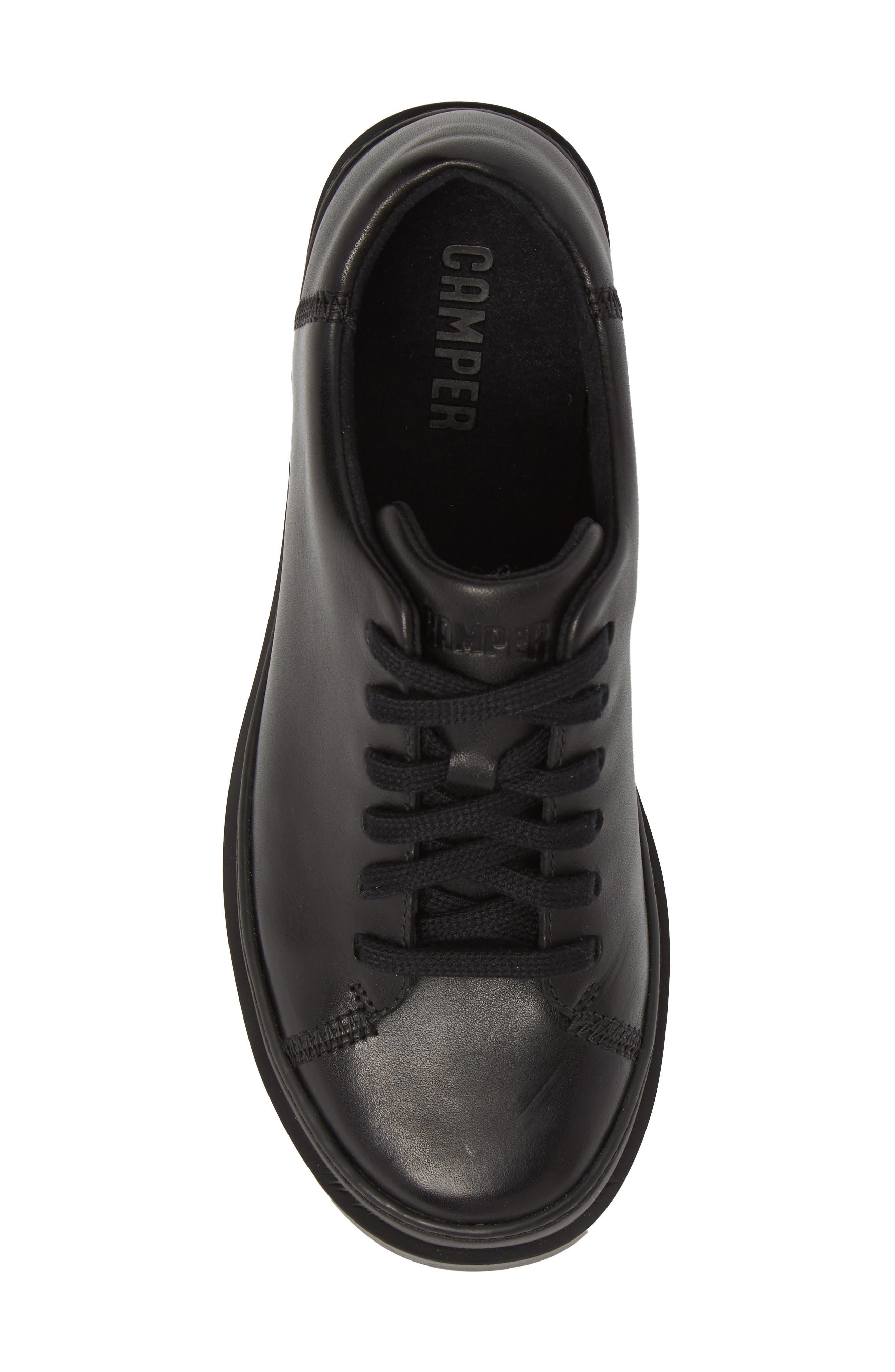 Brutus Sneaker,                             Alternate thumbnail 5, color,                             BLACK LEATHER