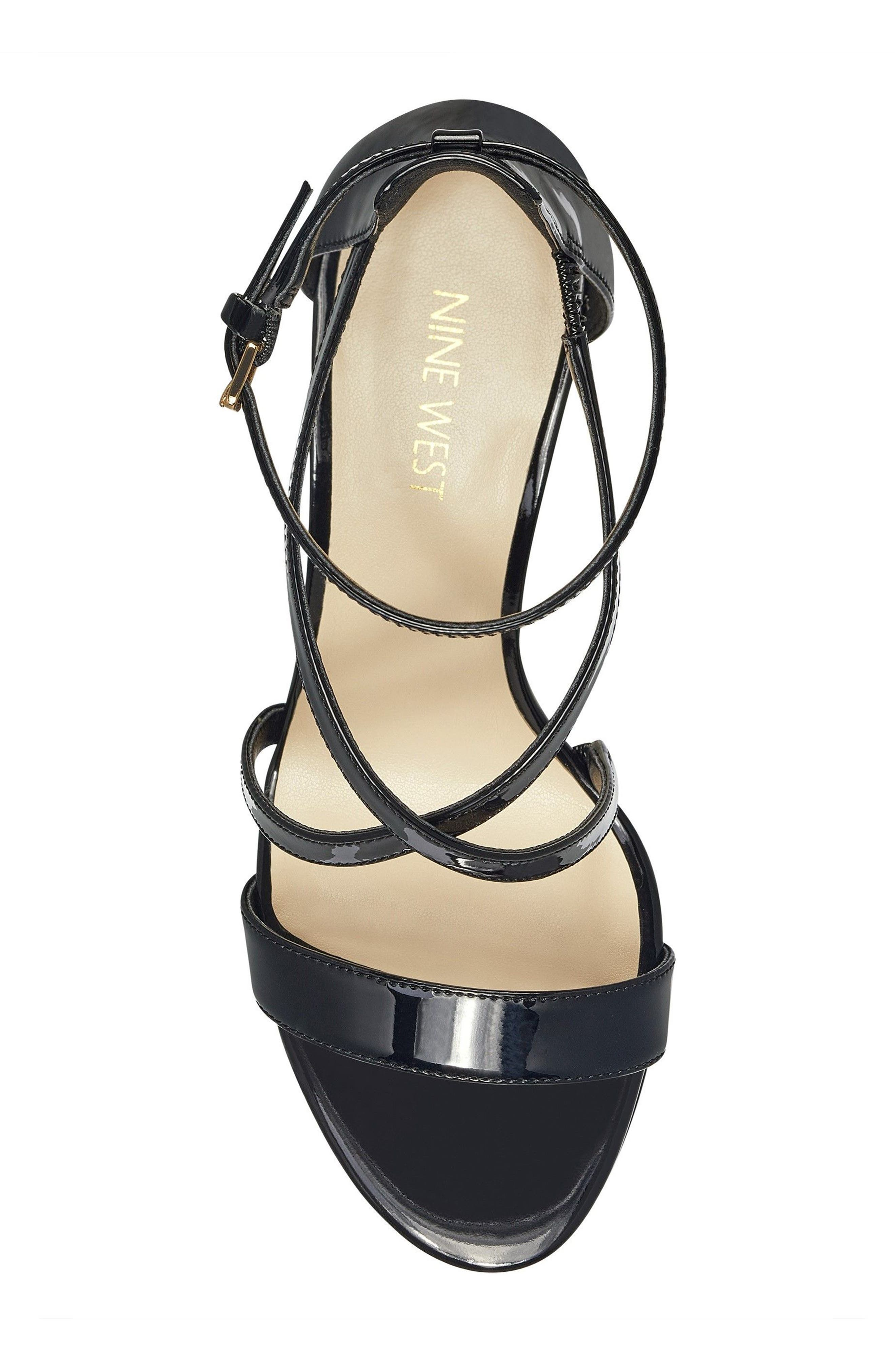 NINE WEST,                             Retail Therapy Strappy Sandal,                             Alternate thumbnail 5, color,                             001