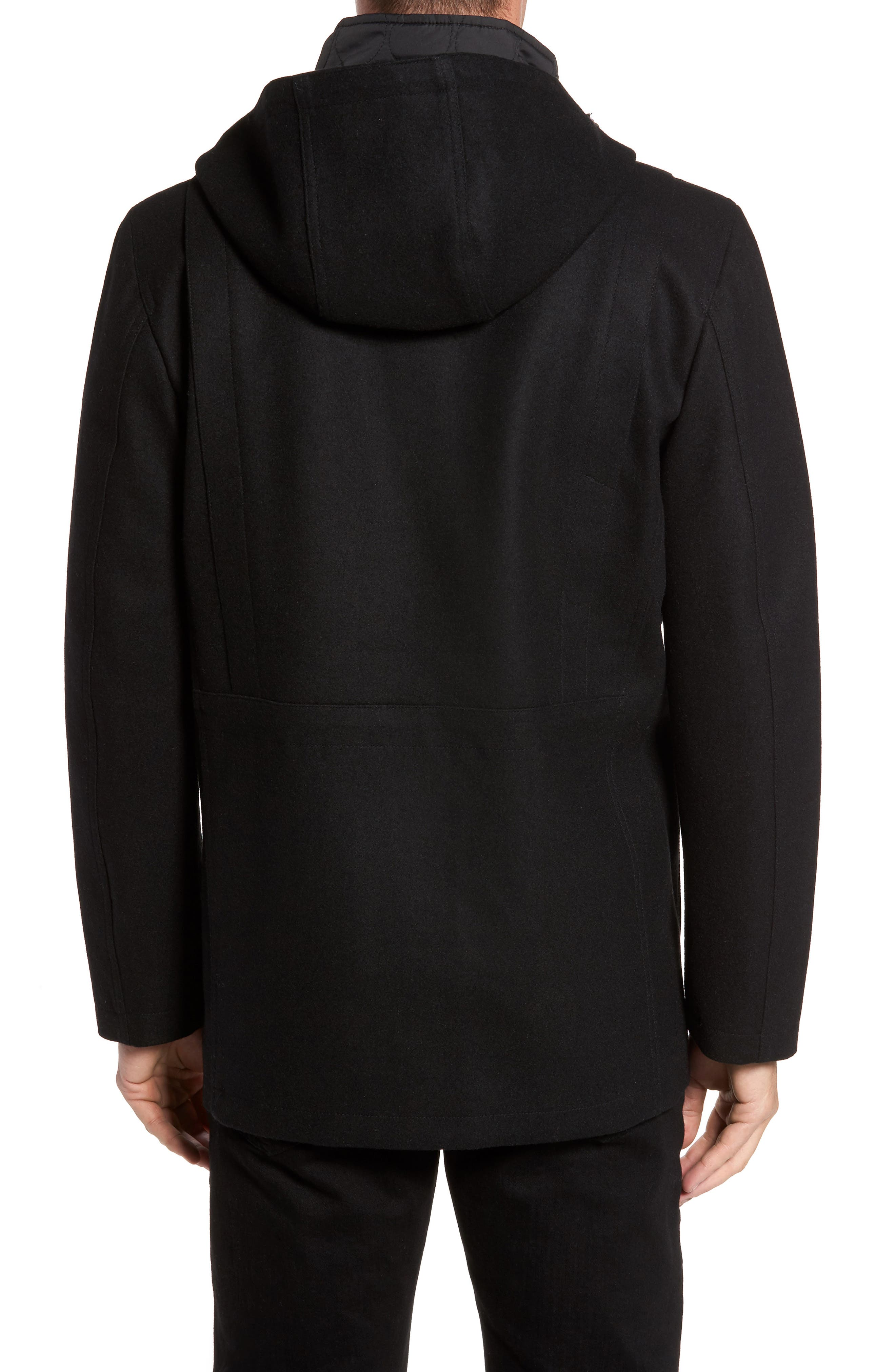 Hooded Jacket with Removable Bib,                             Alternate thumbnail 2, color,                             001