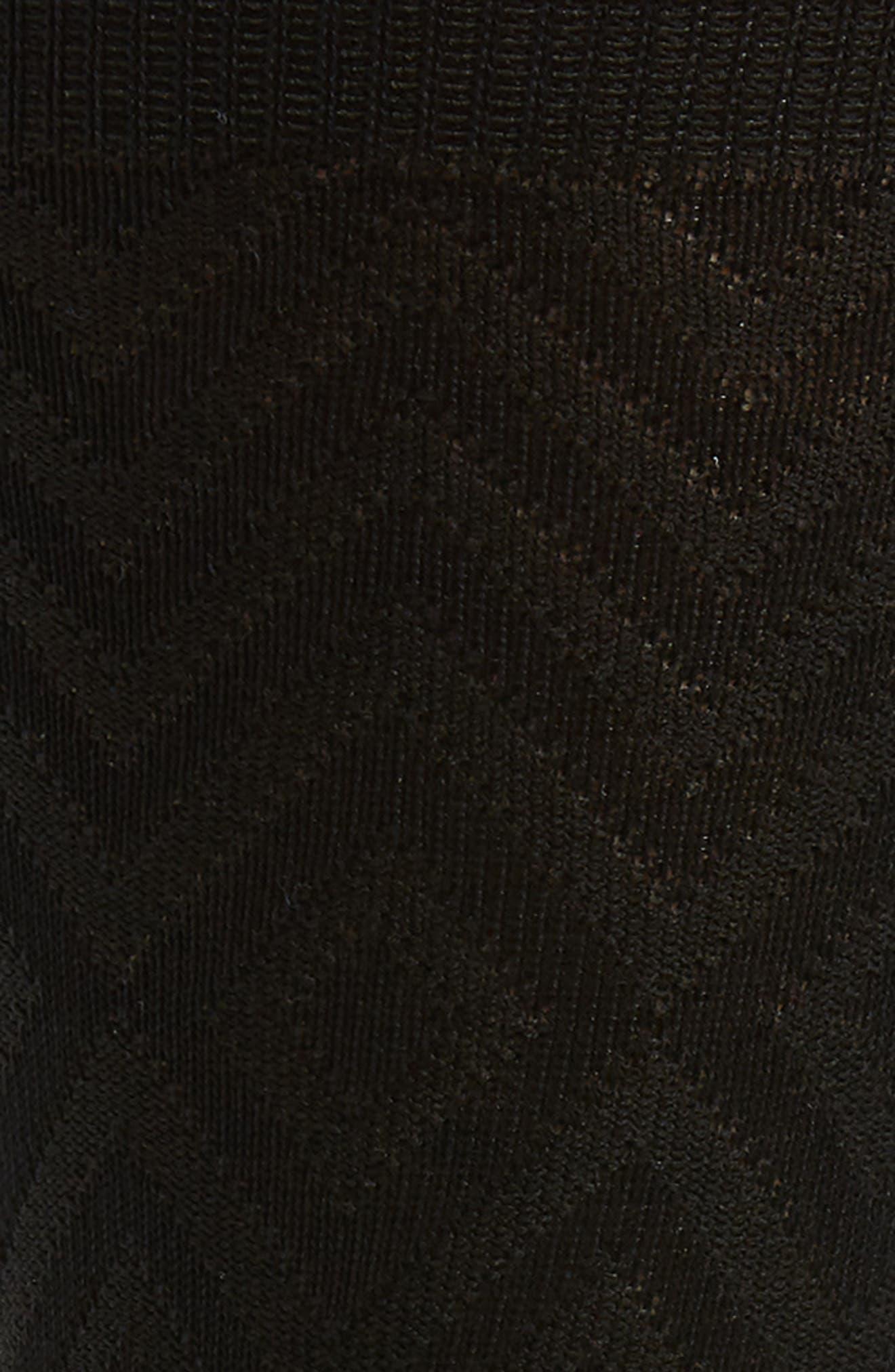 Chevron Socks,                             Alternate thumbnail 2, color,                             BLACK