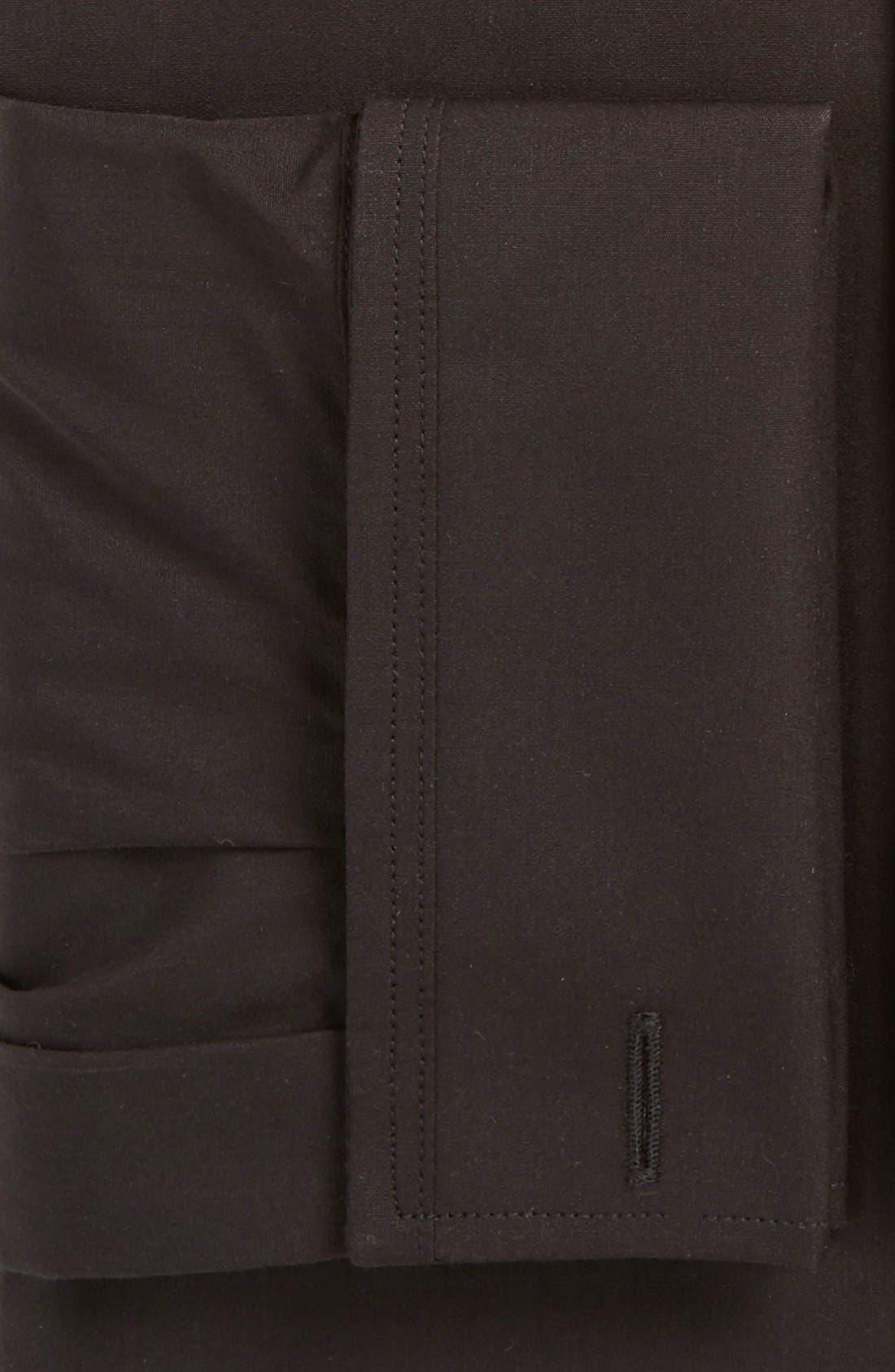 Trim Fit Solid Tuxedo Shirt,                             Alternate thumbnail 4, color,
