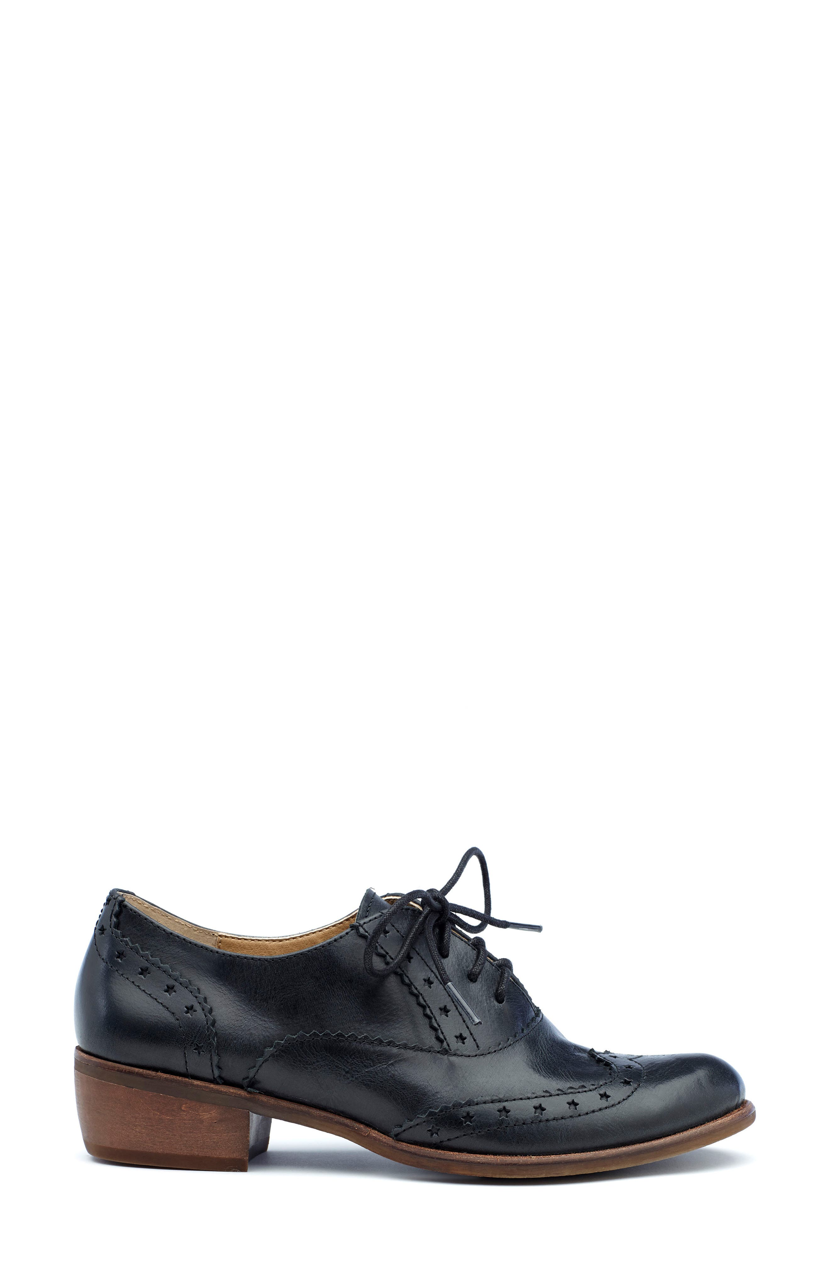 Heart Lace-Up Loafer,                             Alternate thumbnail 3, color,                             001