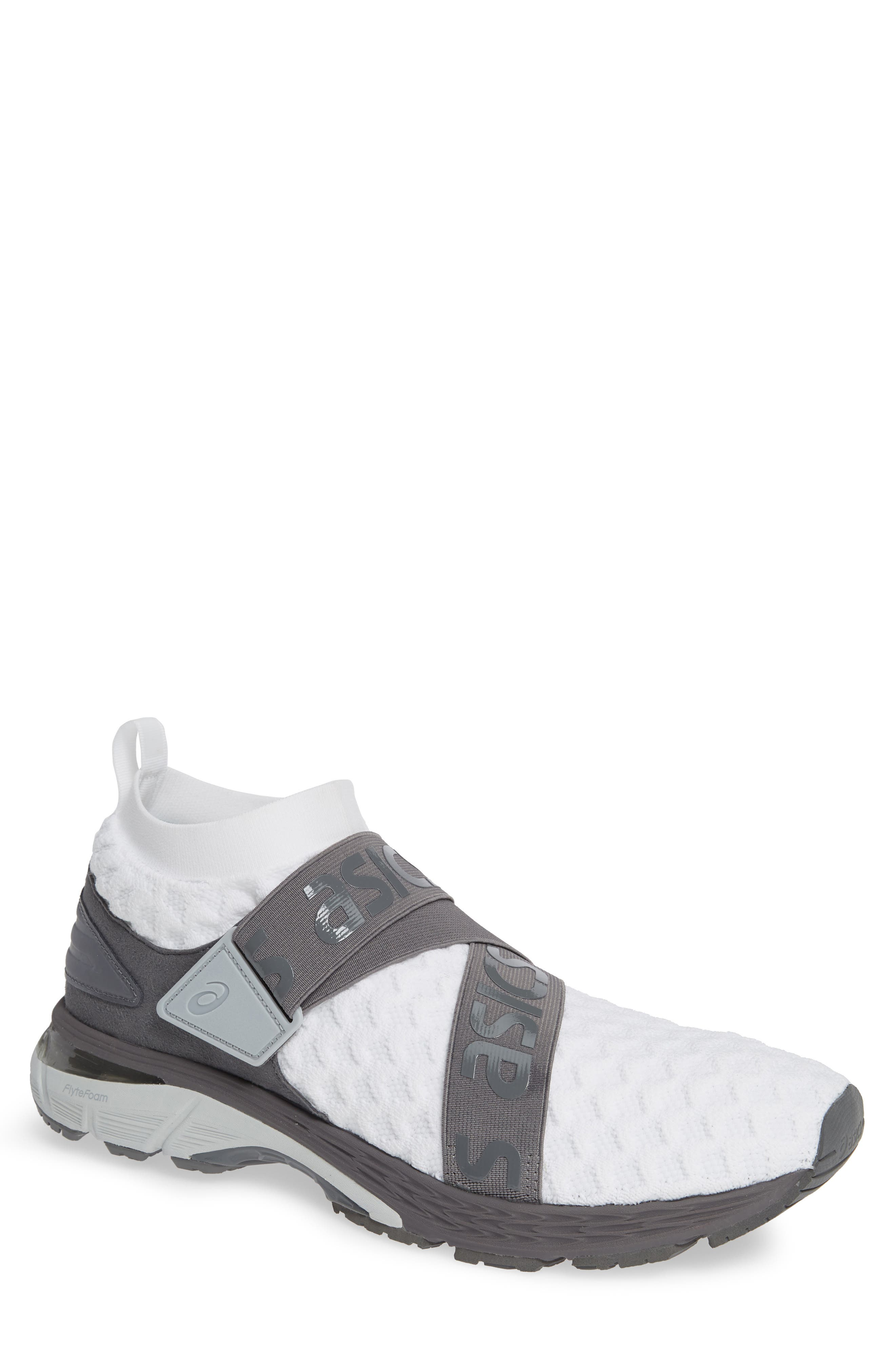 ASICS<SUP>®</SUP> GEL Kayano Obi Running Shoe, Main, color, WHITE/ CARBON