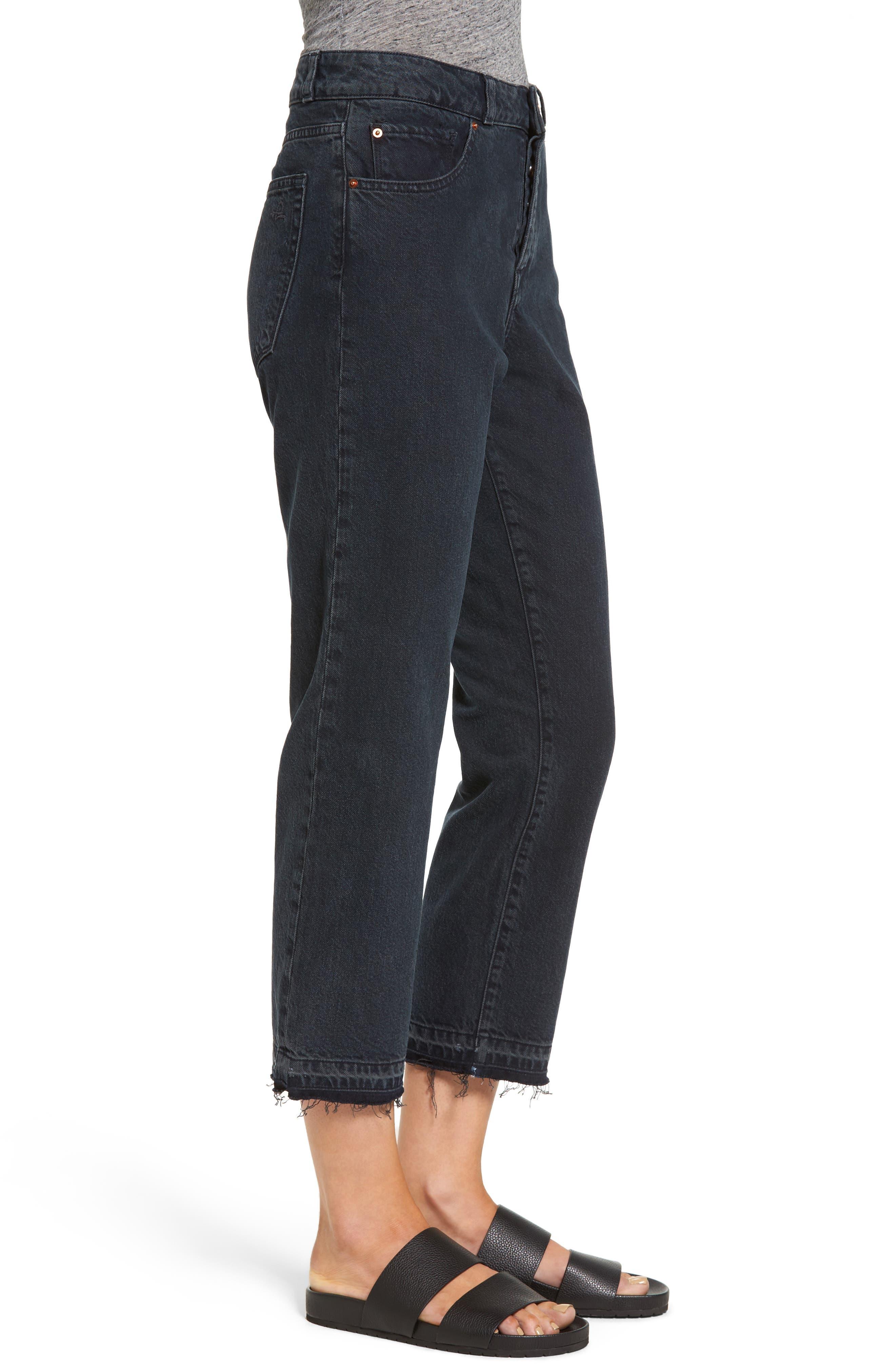 Patti High Rise Straight Leg Jeans,                             Alternate thumbnail 3, color,                             002