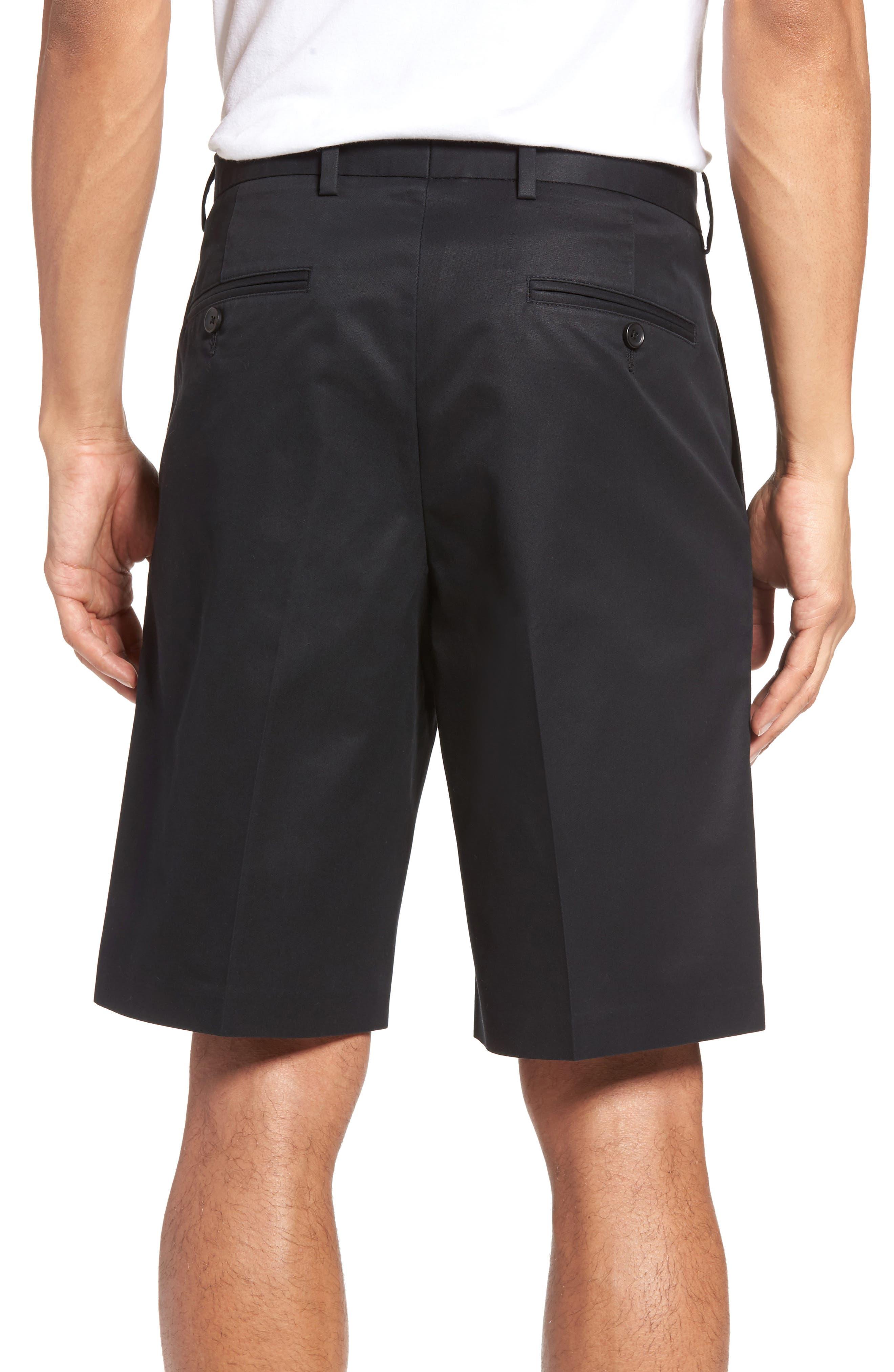 Pleated Supima<sup>®</sup> Cotton Shorts,                             Alternate thumbnail 6, color,