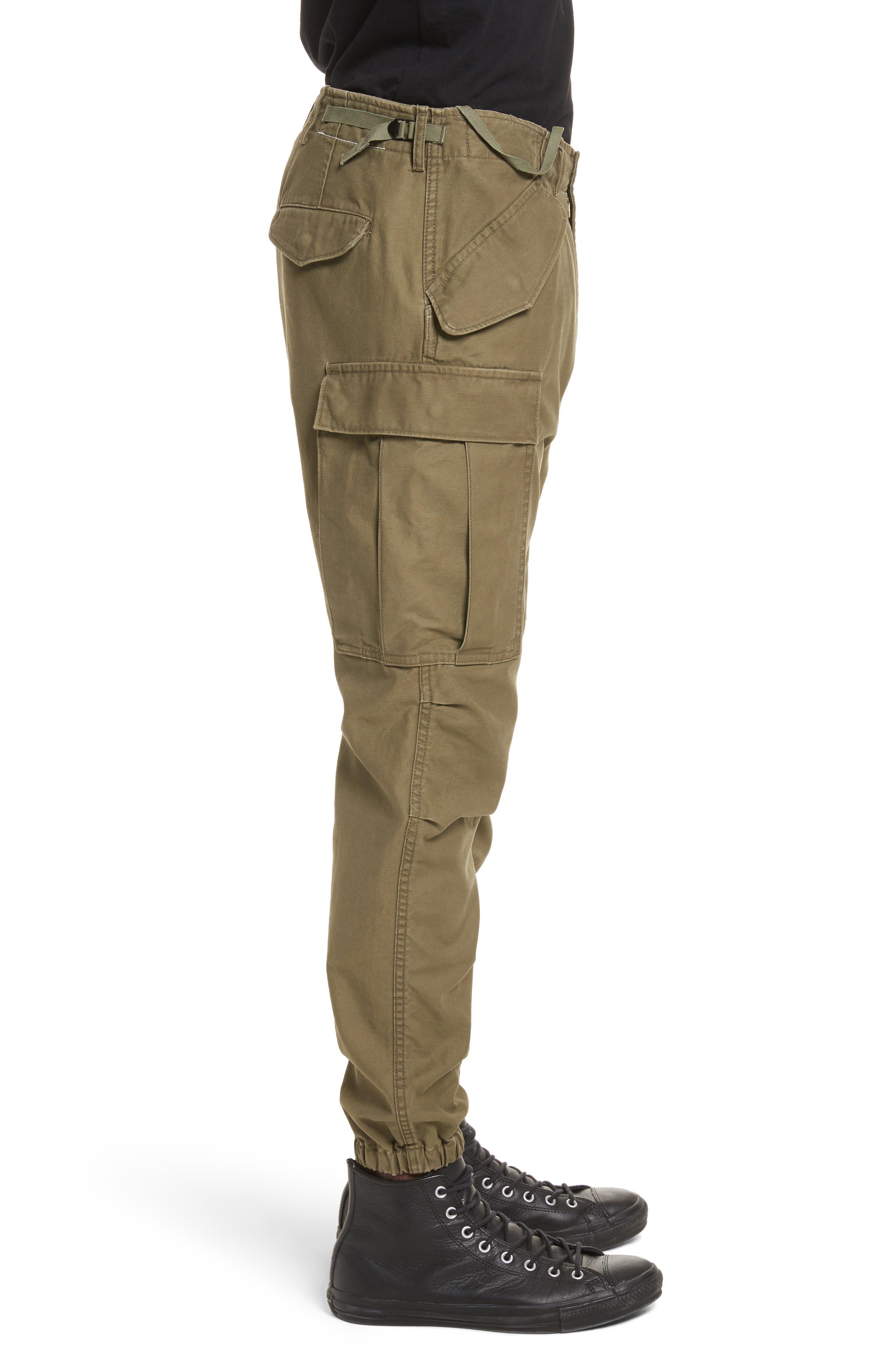 Surplus Military Cargo Pants,                             Alternate thumbnail 3, color,                             OLIVE