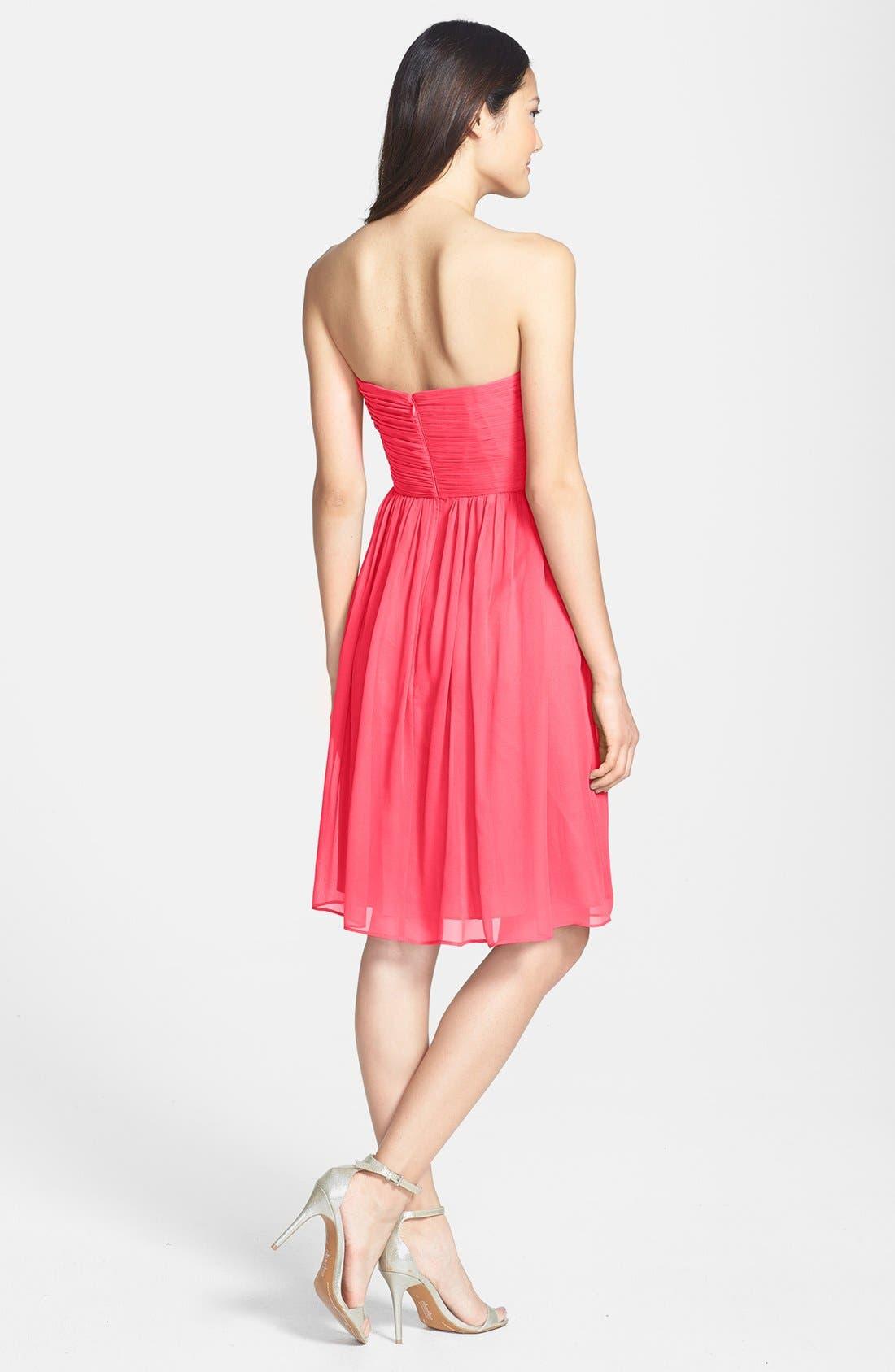 'Morgan' Strapless Silk Chiffon Dress,                             Alternate thumbnail 119, color,