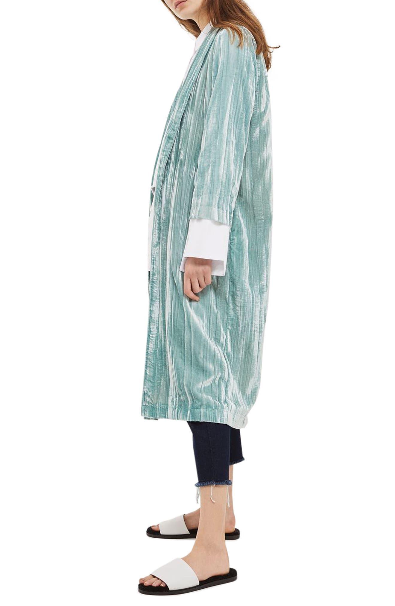 Velvet Duster Coat,                             Alternate thumbnail 3, color,                             330