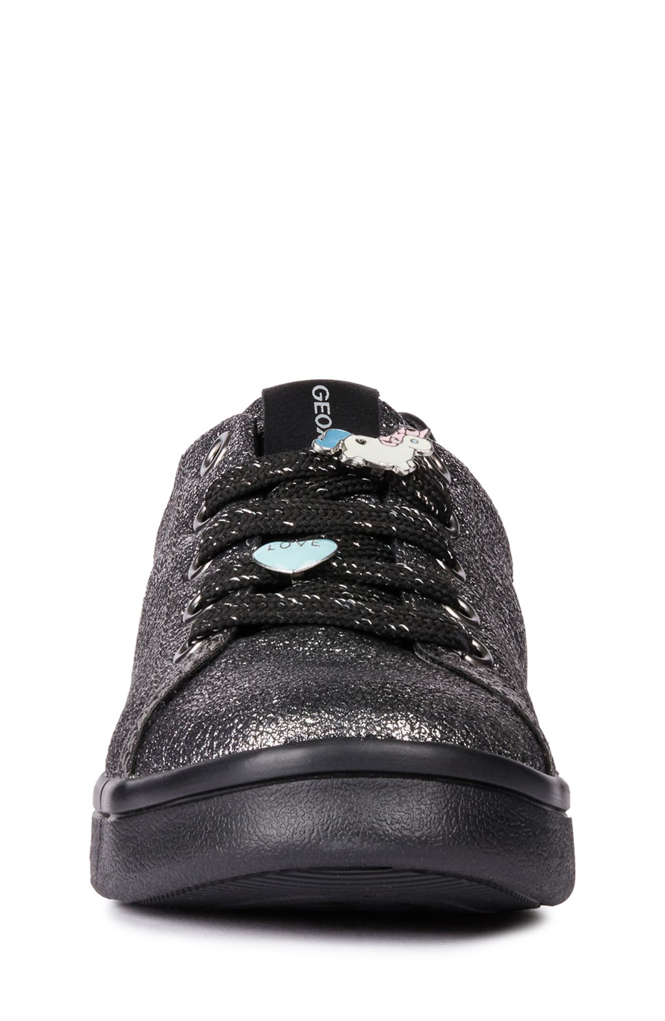 DJ Rock Metallic Sneaker,                             Alternate thumbnail 4, color,                             DARK SILVER