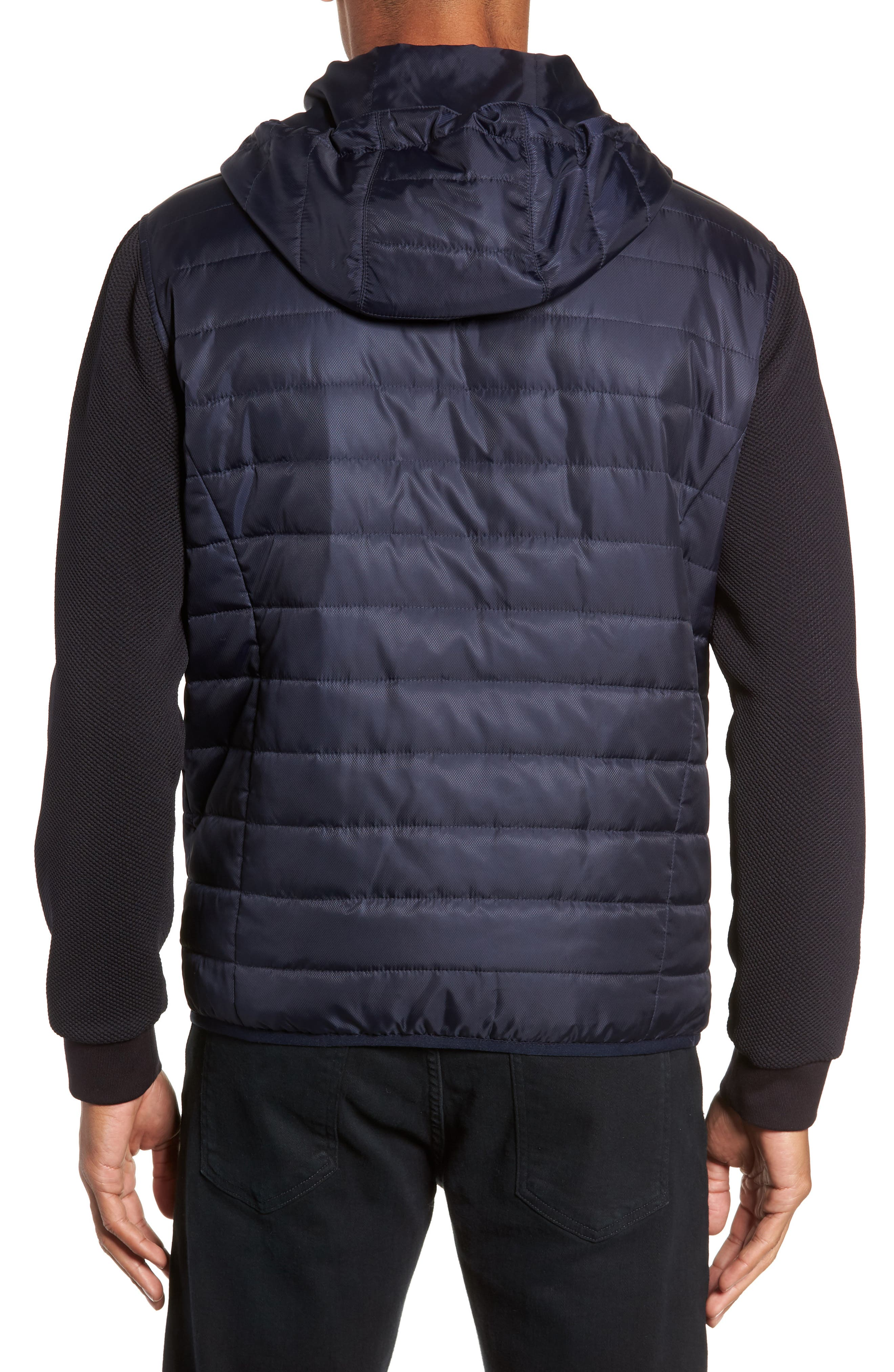 Slim Fit Quilted Performance Jacket,                             Alternate thumbnail 2, color,                             NAVY