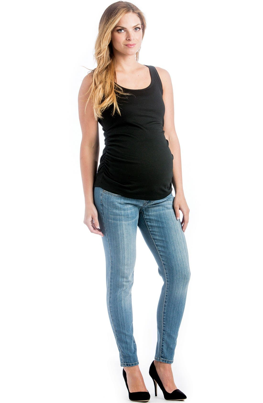 Skinny Maternity Jeans,                             Main thumbnail 2, color,