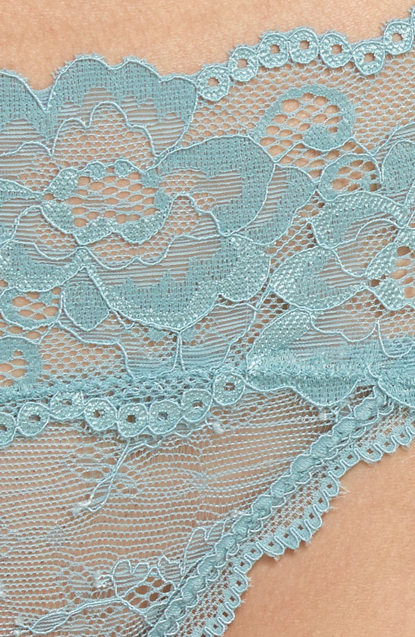 Honeydew Lace Thong,                             Alternate thumbnail 68, color,