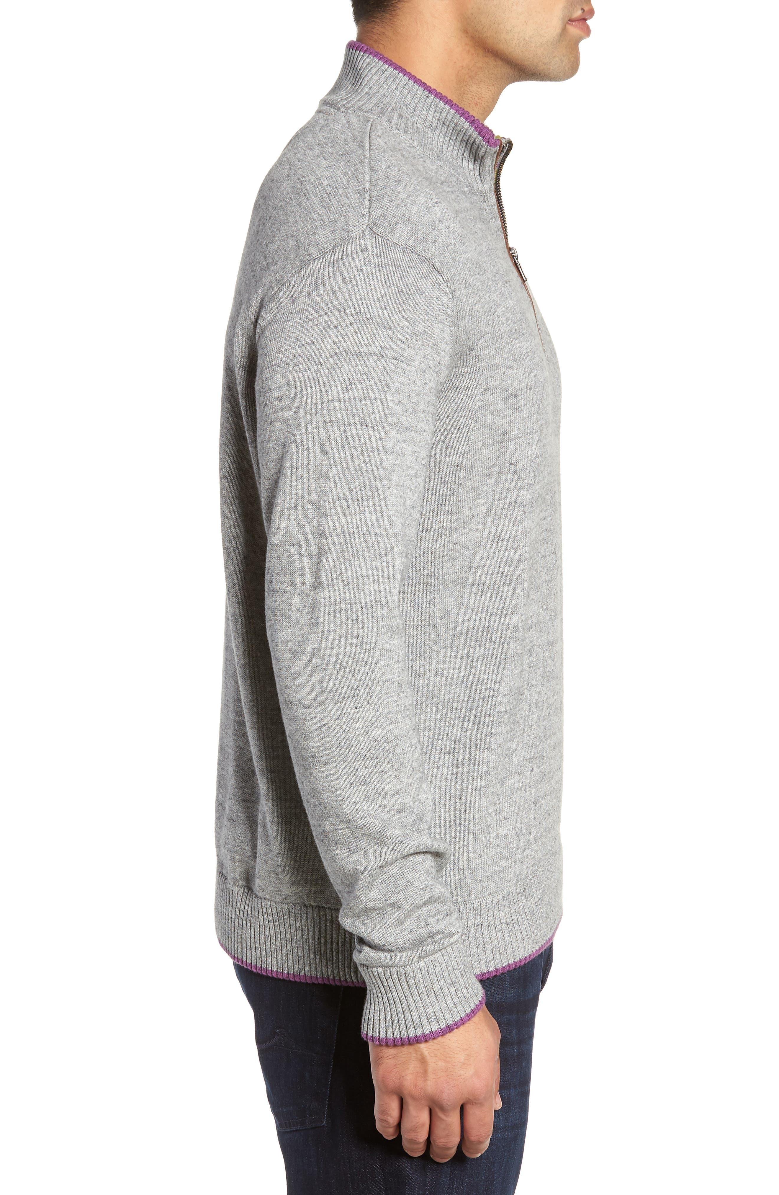 Cavalry Classic Fit Quarter Zip Sweater,                             Alternate thumbnail 3, color,                             032