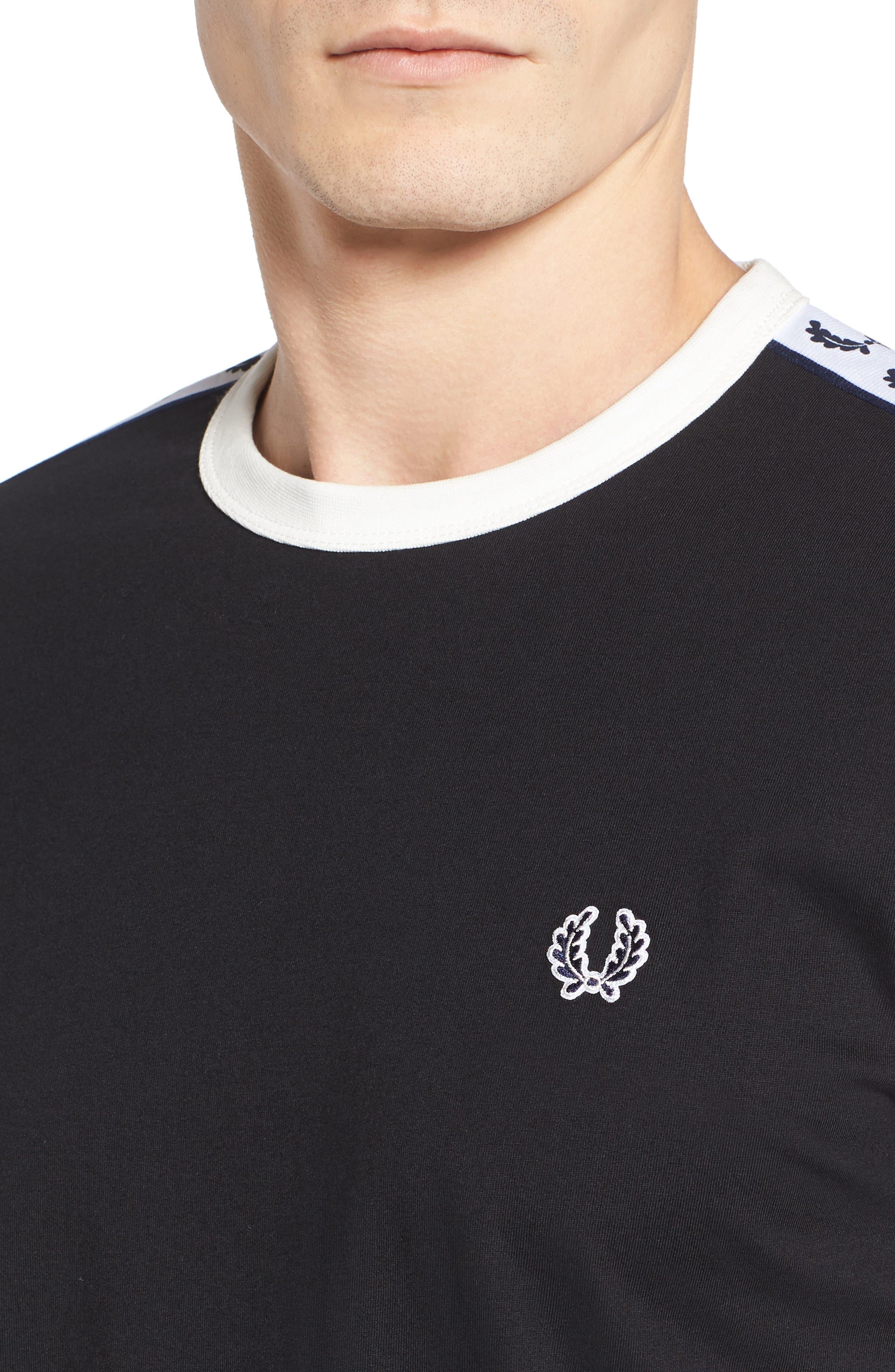Extra Trim Fit Cotton Ringer T-Shirt,                             Alternate thumbnail 24, color,
