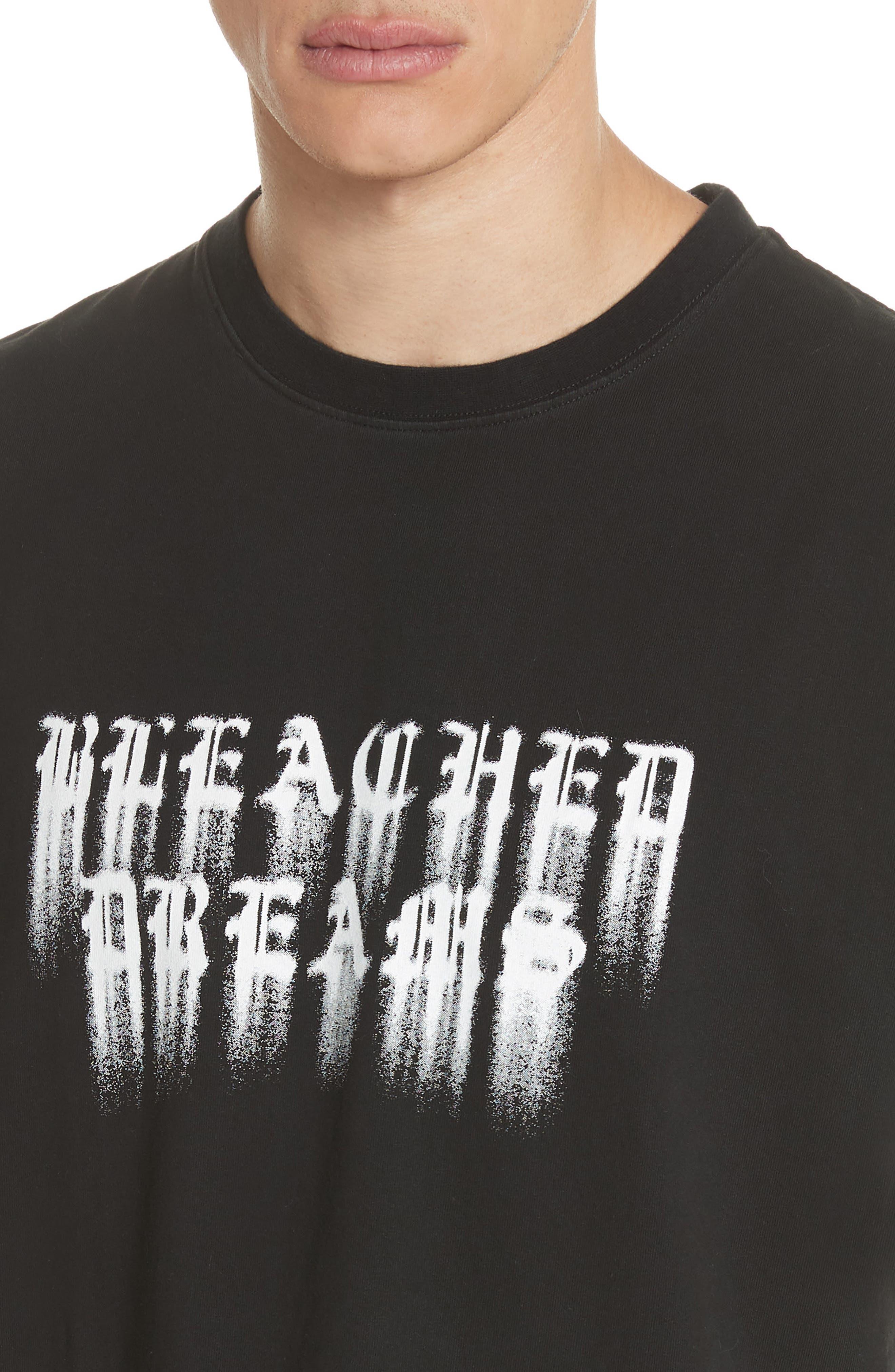 Bleached Dreams Graphic T-Shirt,                             Alternate thumbnail 4, color,                             001