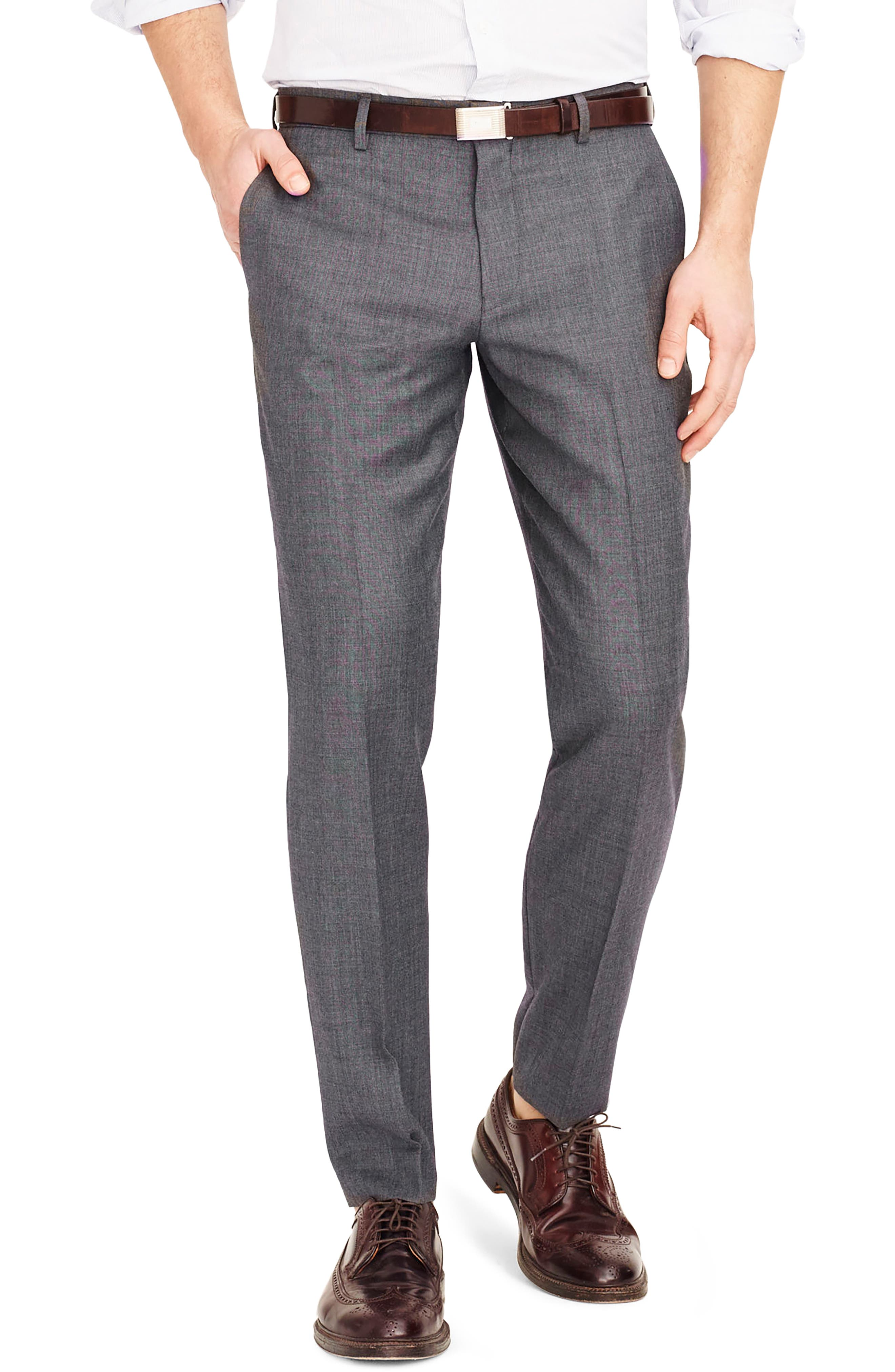 Ludlow Flat Front Solid Wool Trousers,                             Alternate thumbnail 15, color,