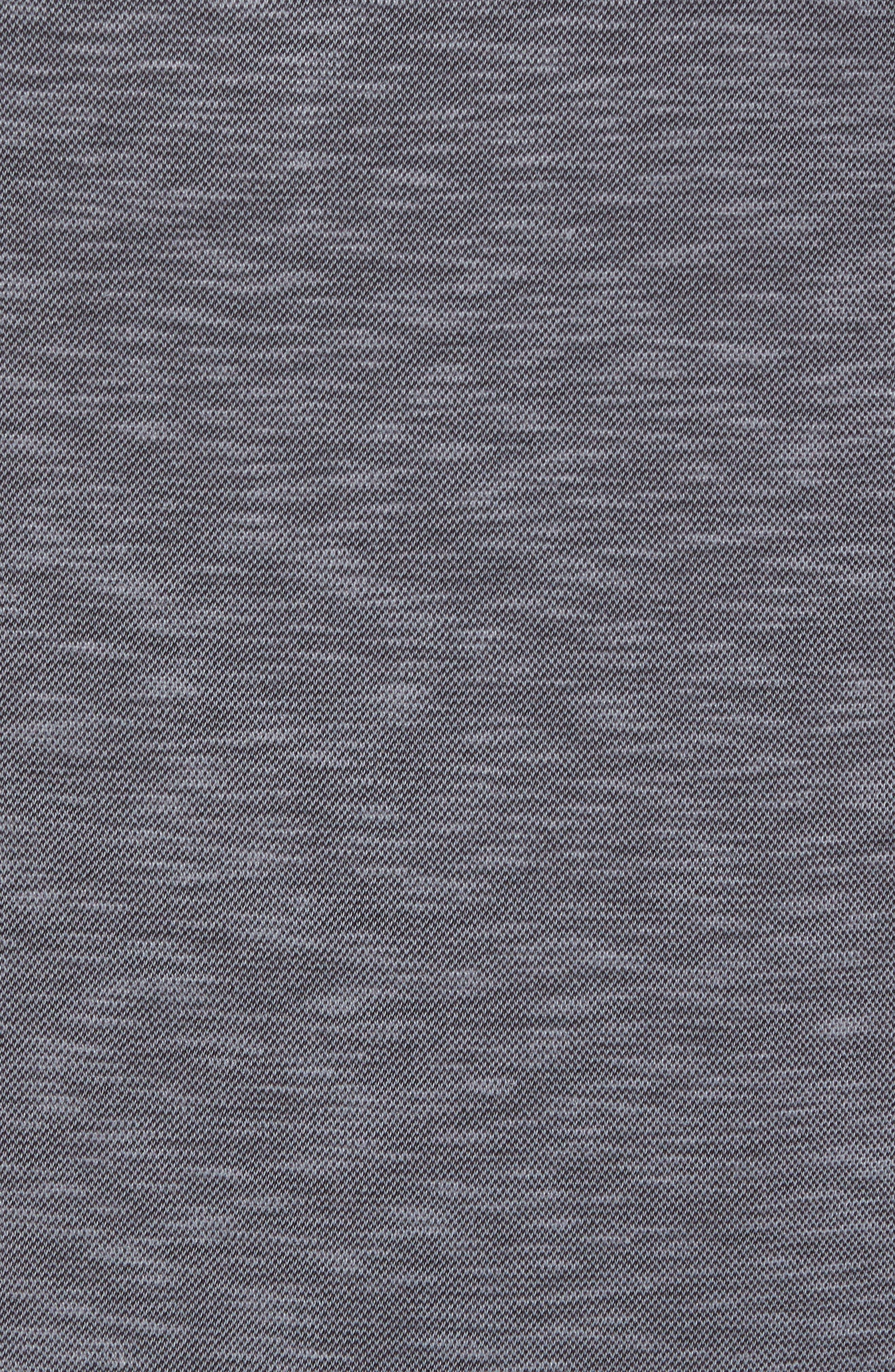 TRUE GRIT,                             Lux Textured Slub Piqué Polo,                             Alternate thumbnail 5, color,                             001