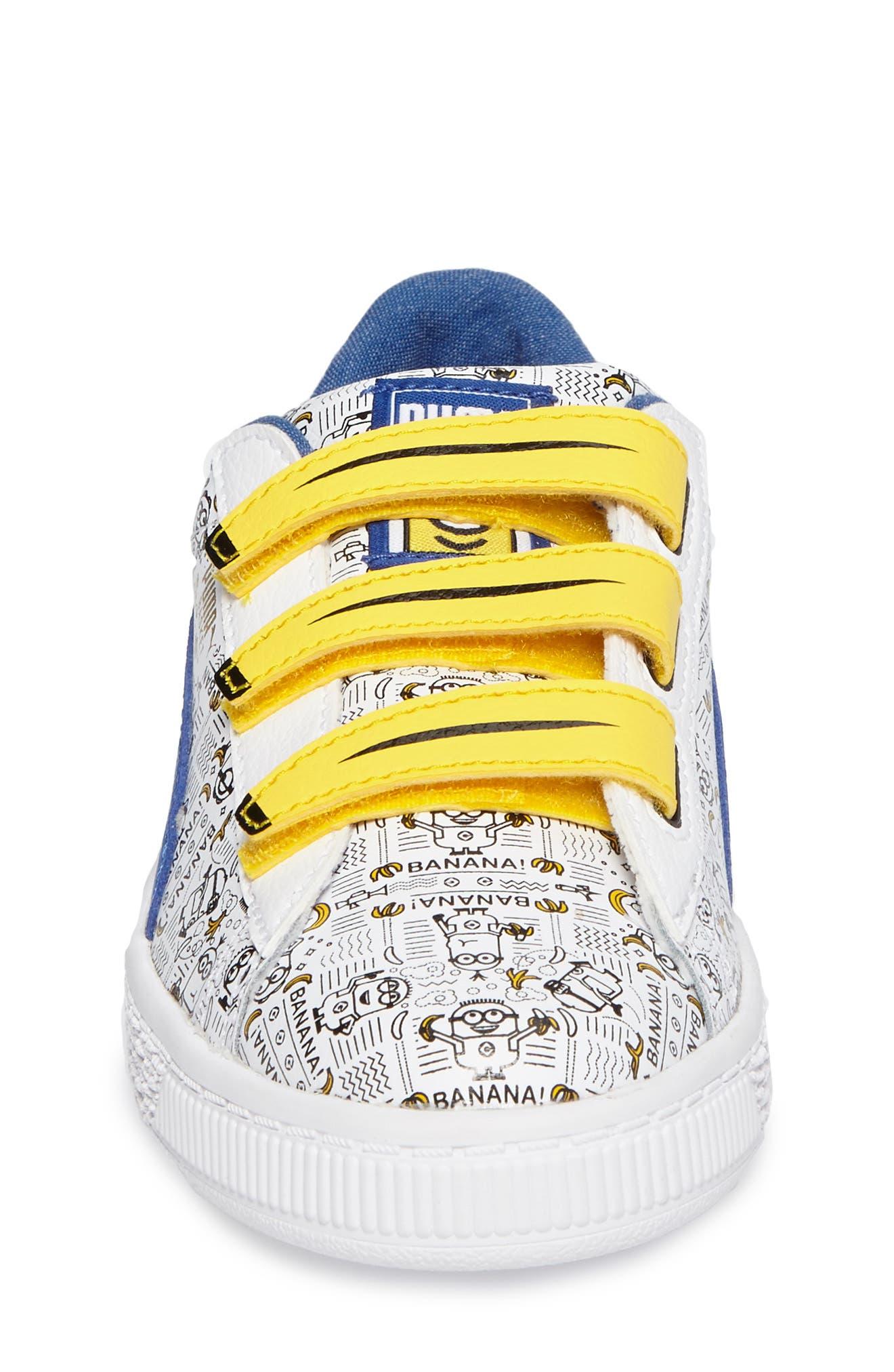 Minions Basket V Sneaker,                             Alternate thumbnail 4, color,                             100