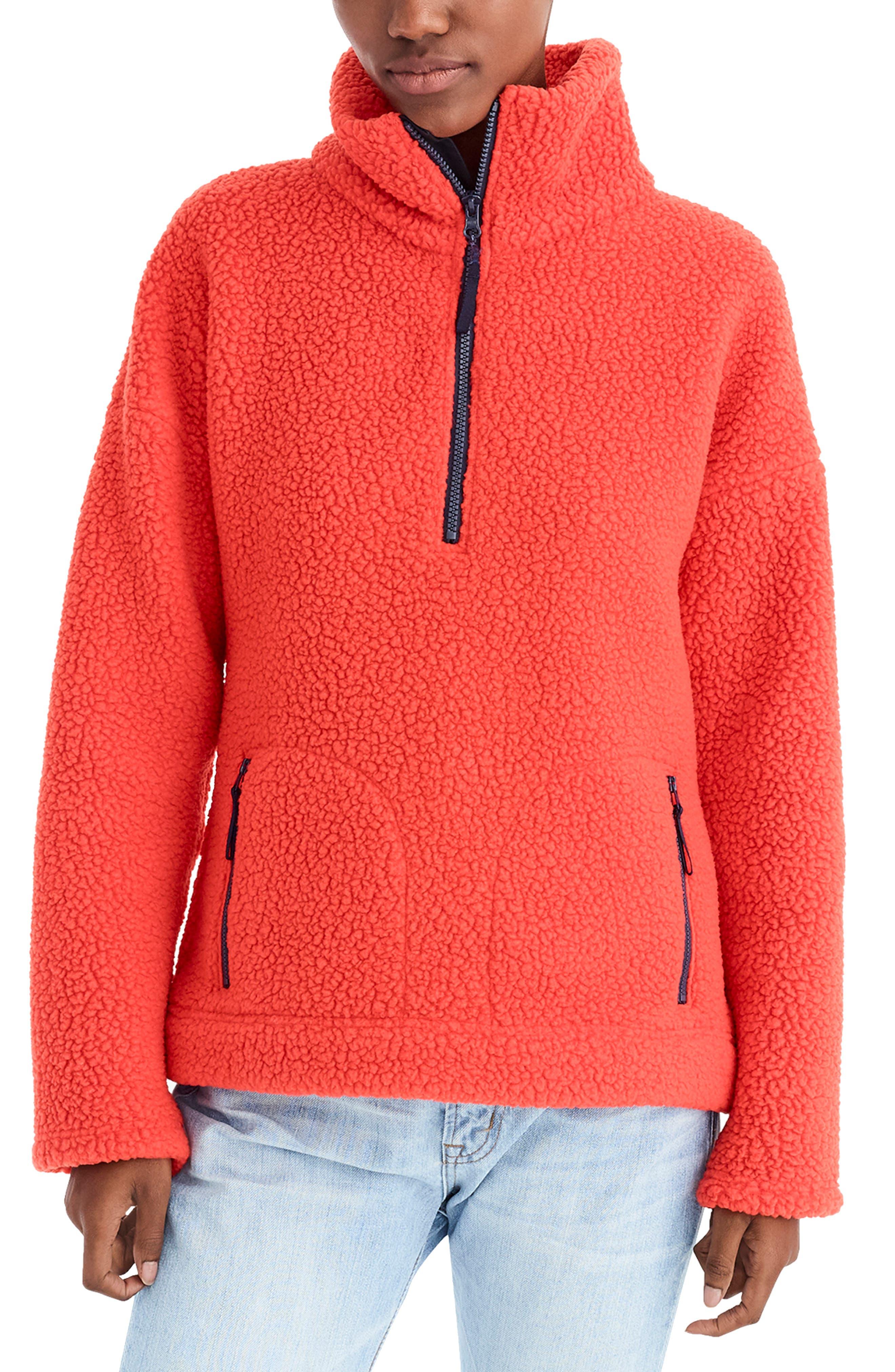 J.crew Polartec Fleece Half-Zip Pullover Jacket