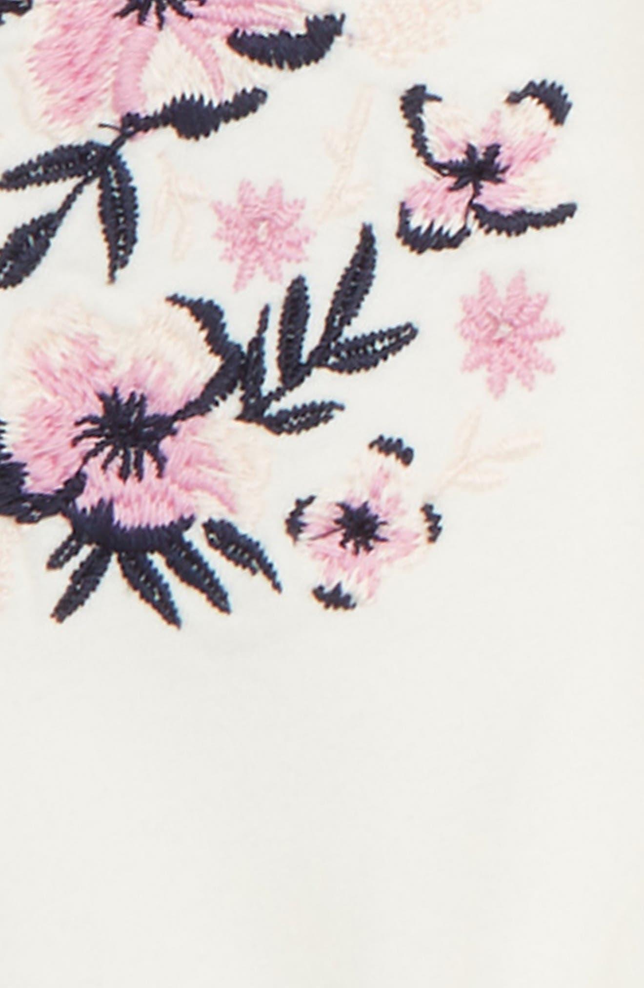Embroidered Dress,                             Alternate thumbnail 2, color,                             IVORY EGRET