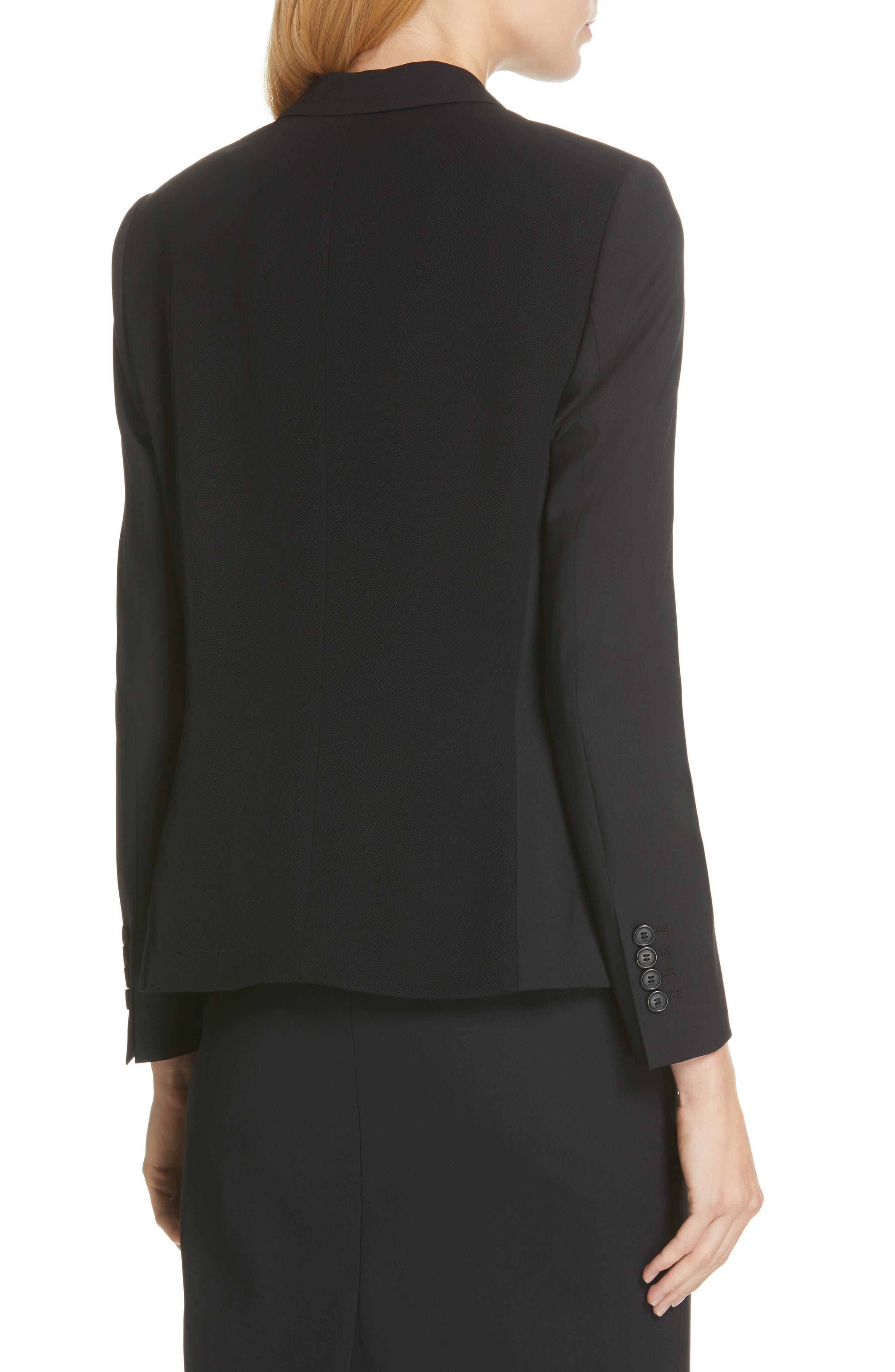 BOSS,                             Jaela Stretch Wool Suit Jacket,                             Alternate thumbnail 2, color,                             BLACK