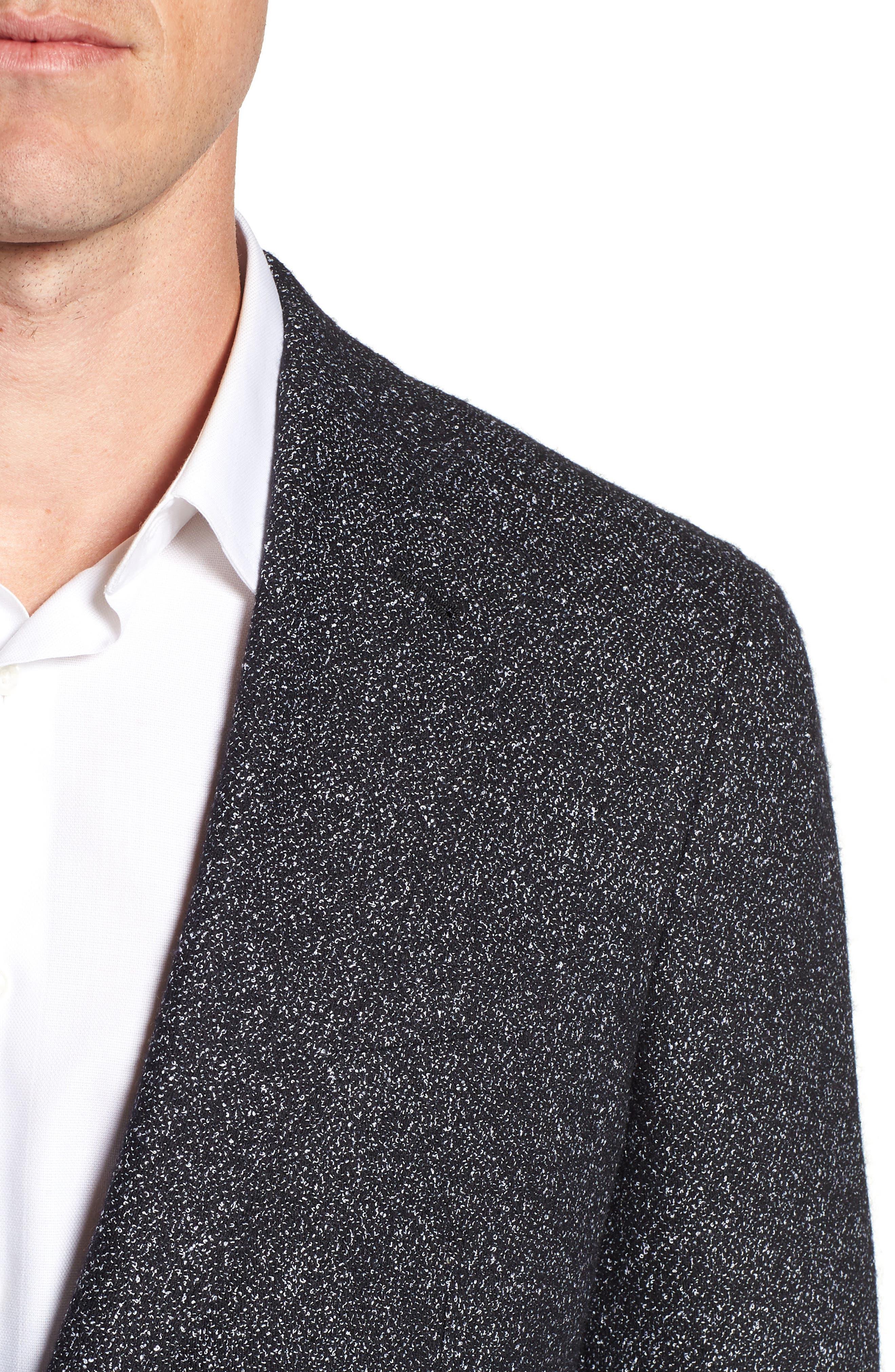Chester Tailored Fit Sport Coat,                             Alternate thumbnail 4, color,                             BLACK