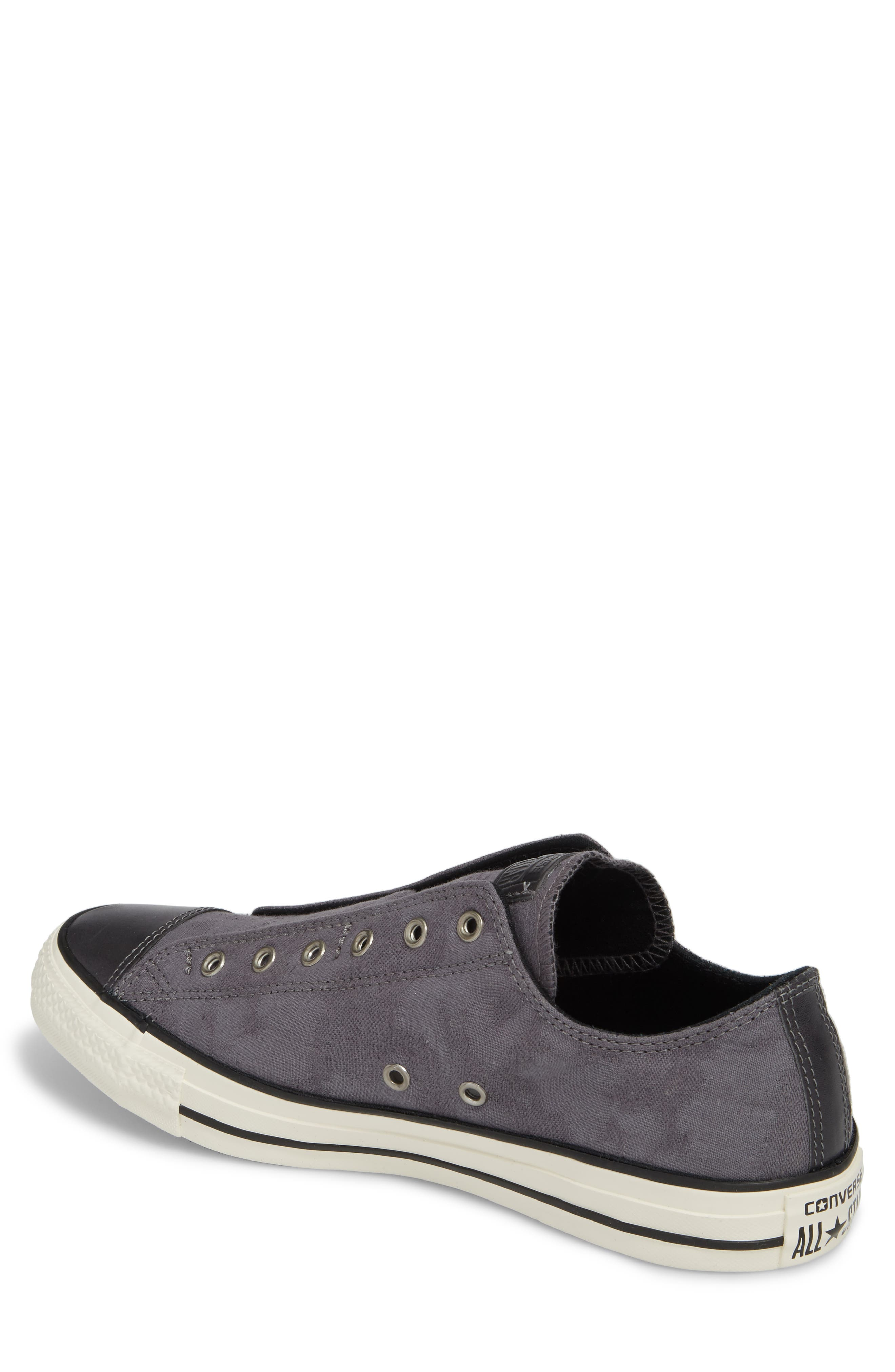 Chuck Taylor<sup>®</sup> All Star<sup>®</sup> Laceless Low Top Sneaker,                             Alternate thumbnail 2, color,                             THUNDER