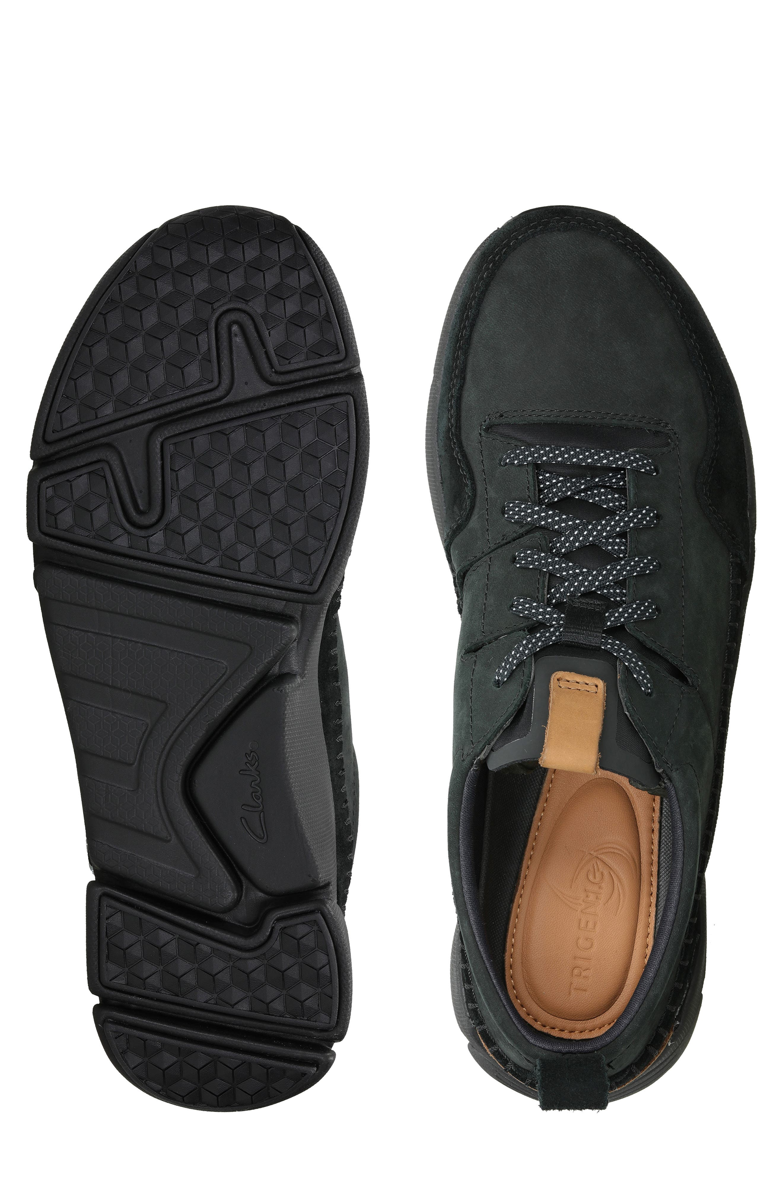 Tri-Active Run Sneaker,                             Alternate thumbnail 6, color,                             BLACK LEATHER