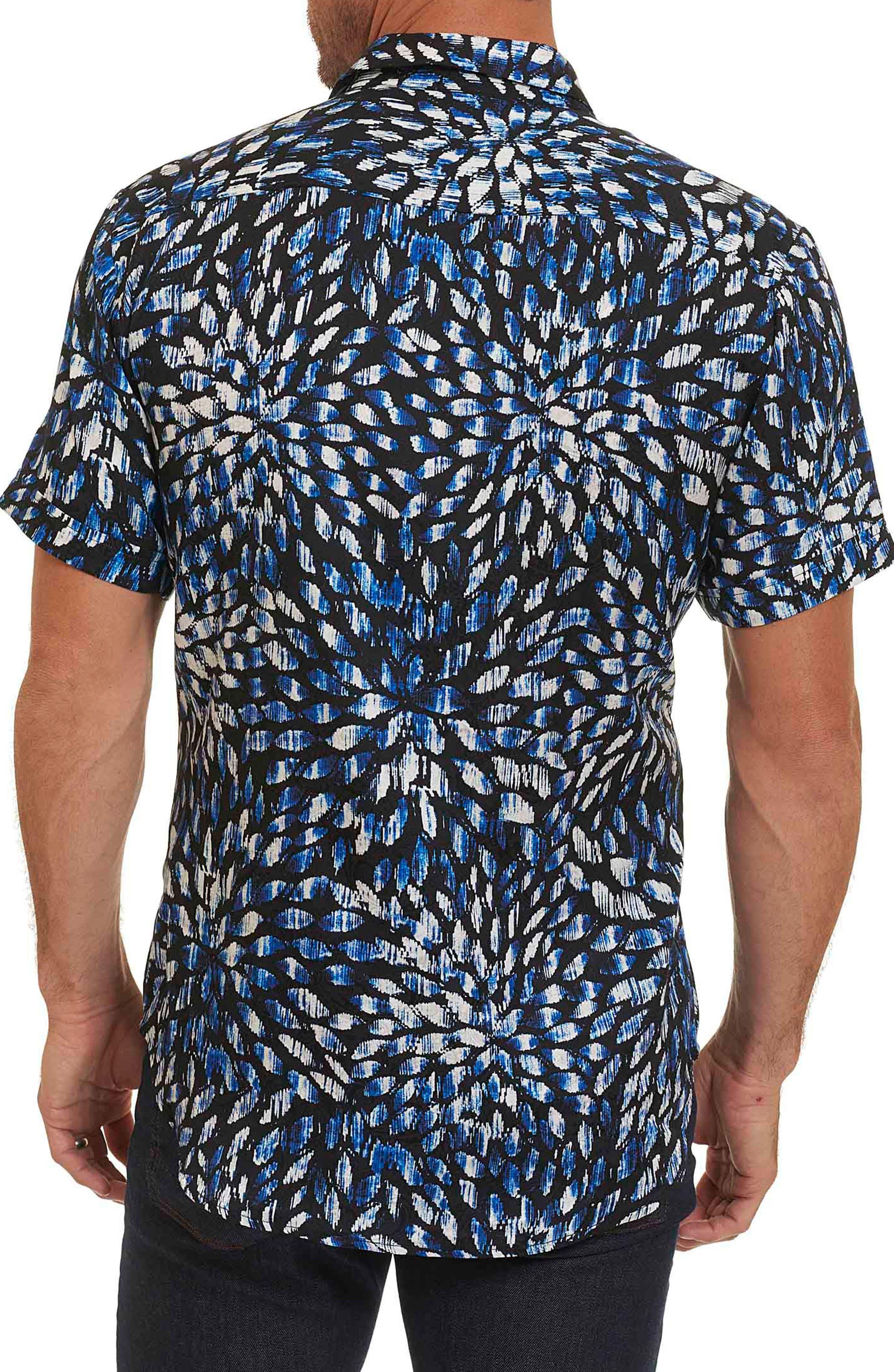 Pebble Beach Print Short Sleeve Sport Shirt,                             Alternate thumbnail 2, color,                             410