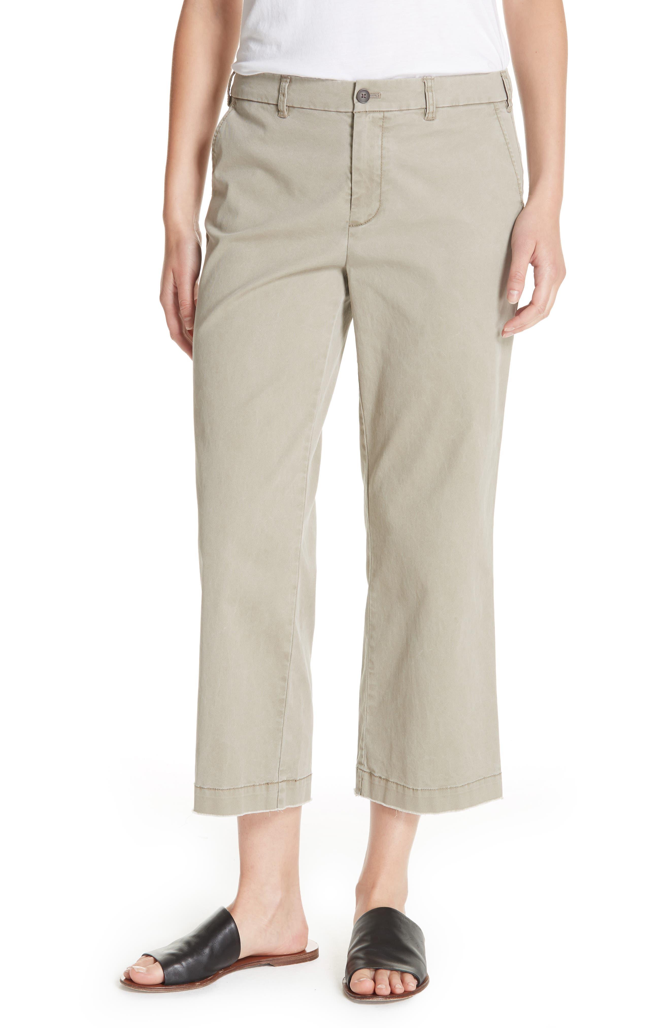 Enzyme Wash Crop Boyfriend Pants, Main, color, FADED SAGE