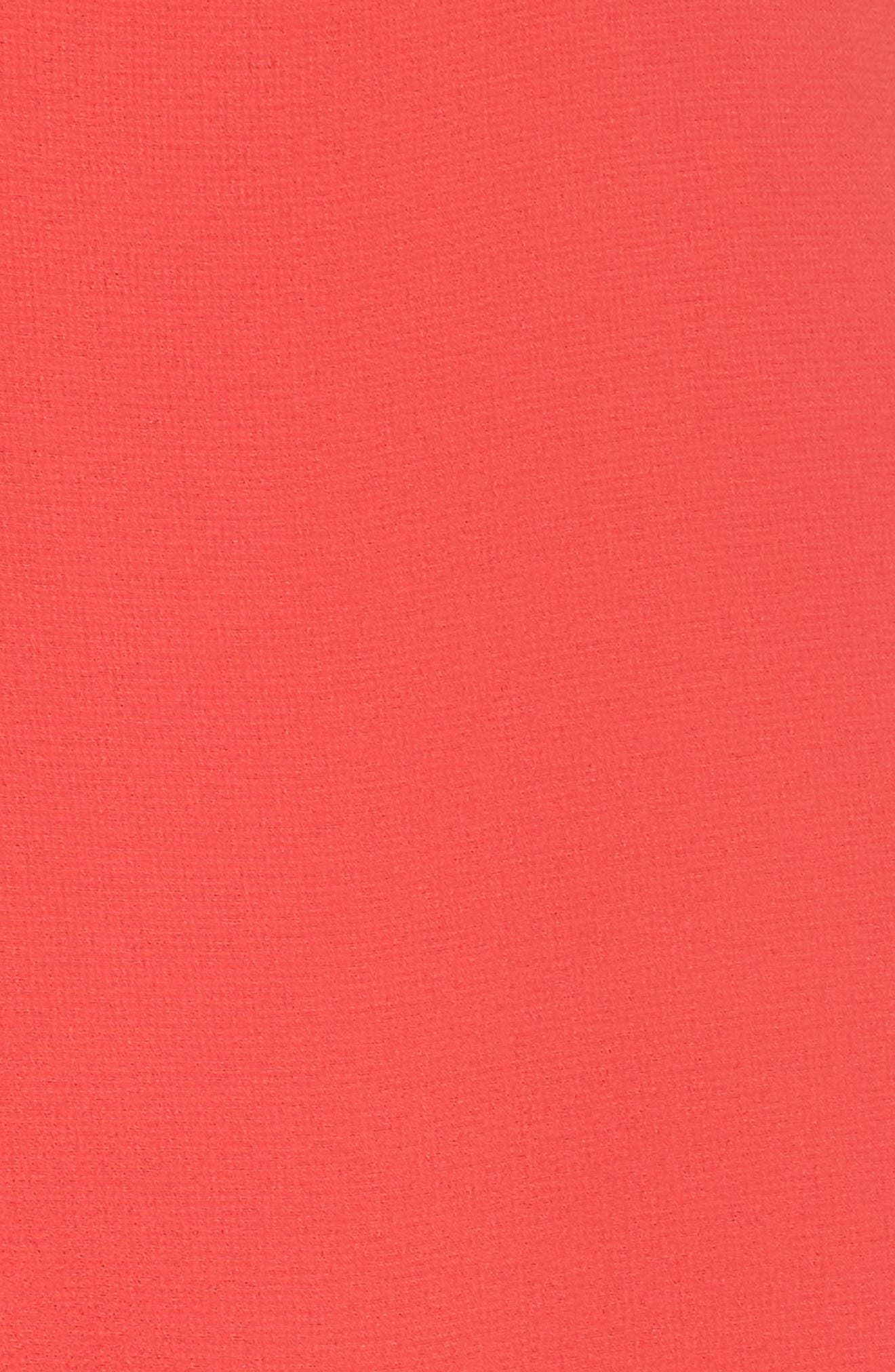 Soufflé V-Neck Chiffon Dress,                             Alternate thumbnail 6, color,                             STRAWBERRY
