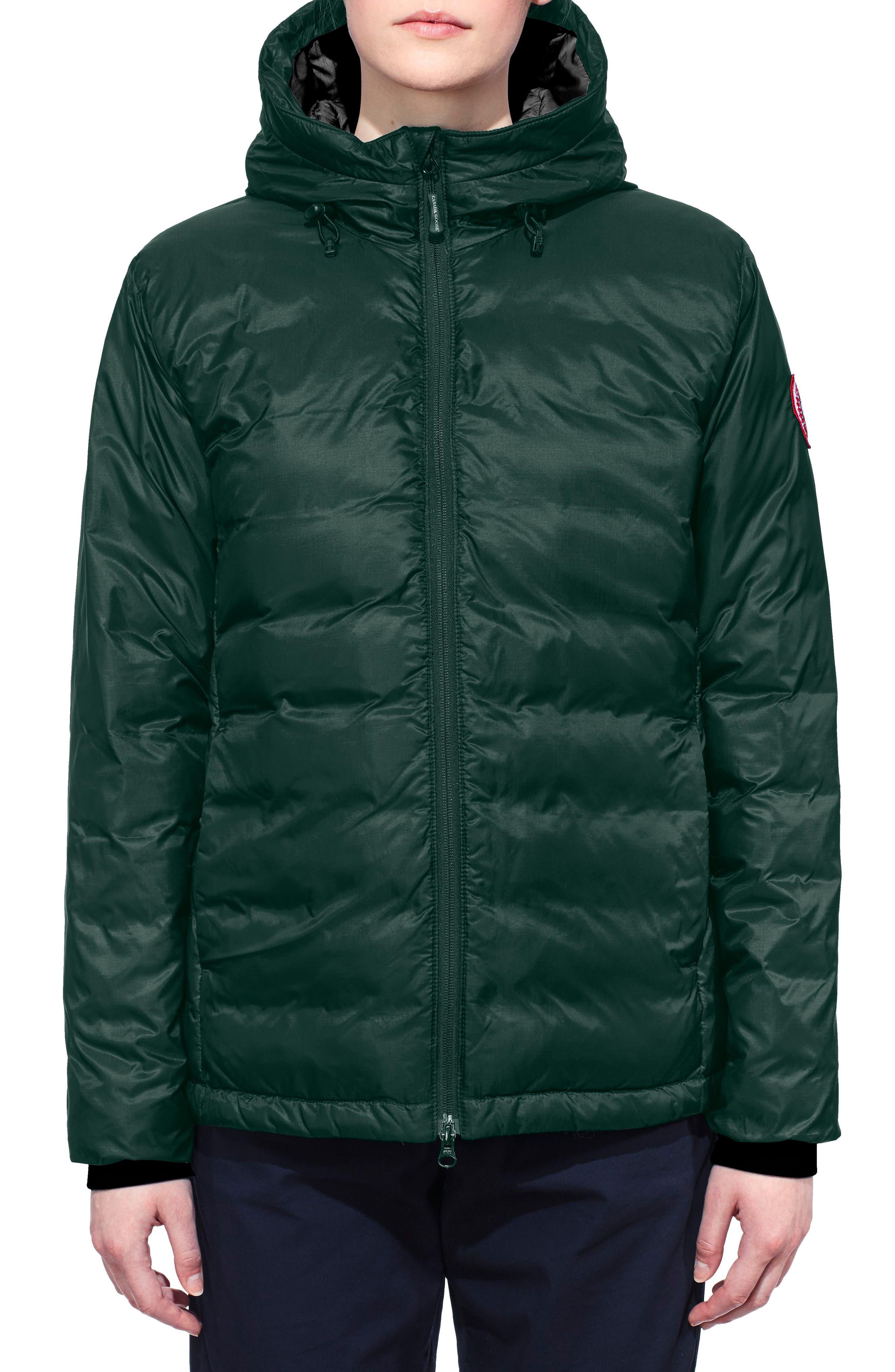 Camp Down Jacket,                         Main,                         color, SPRUCE/ BLACK