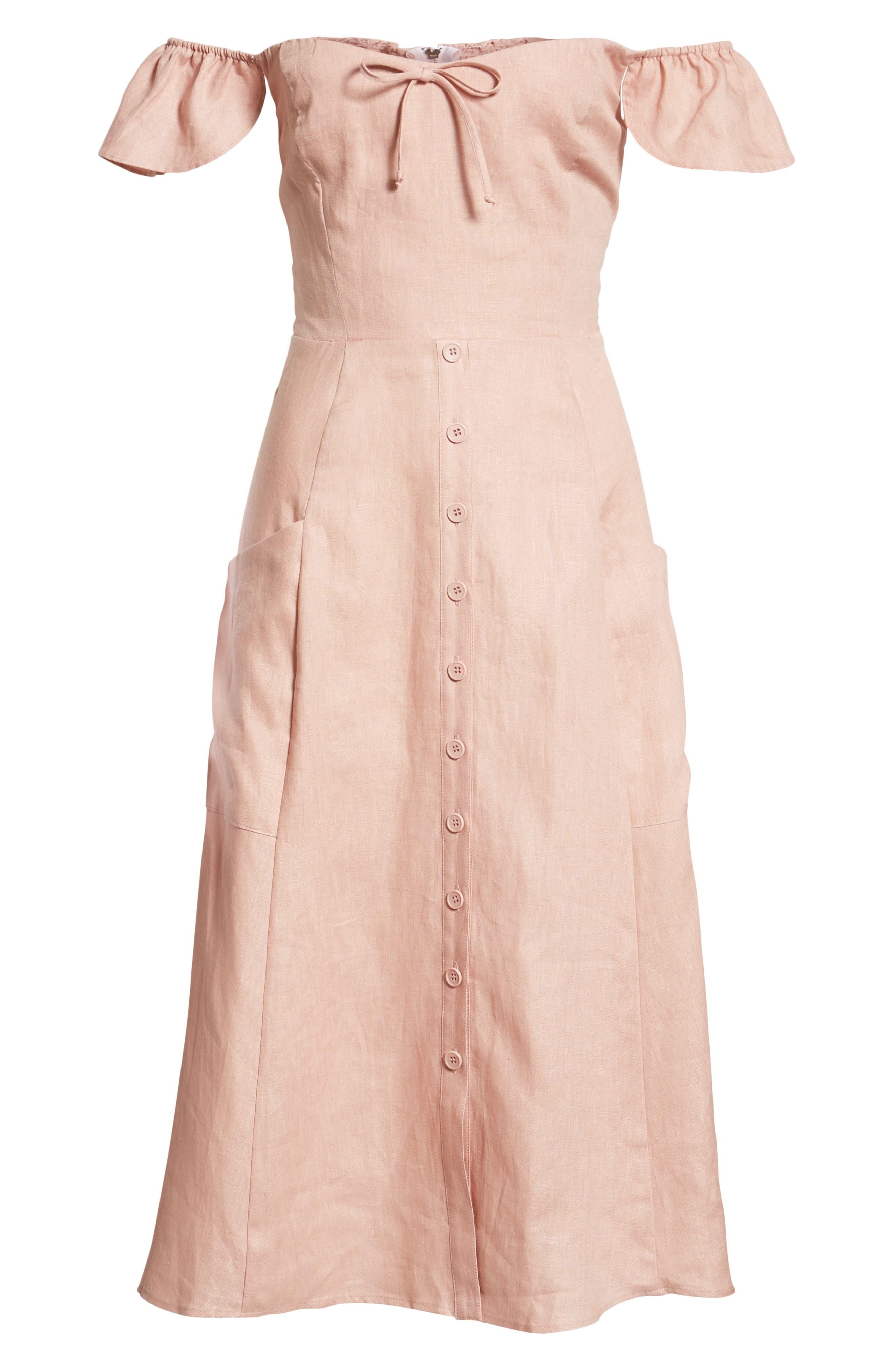 Francis Prairie A-Line Dress,                             Alternate thumbnail 6, color,                             650