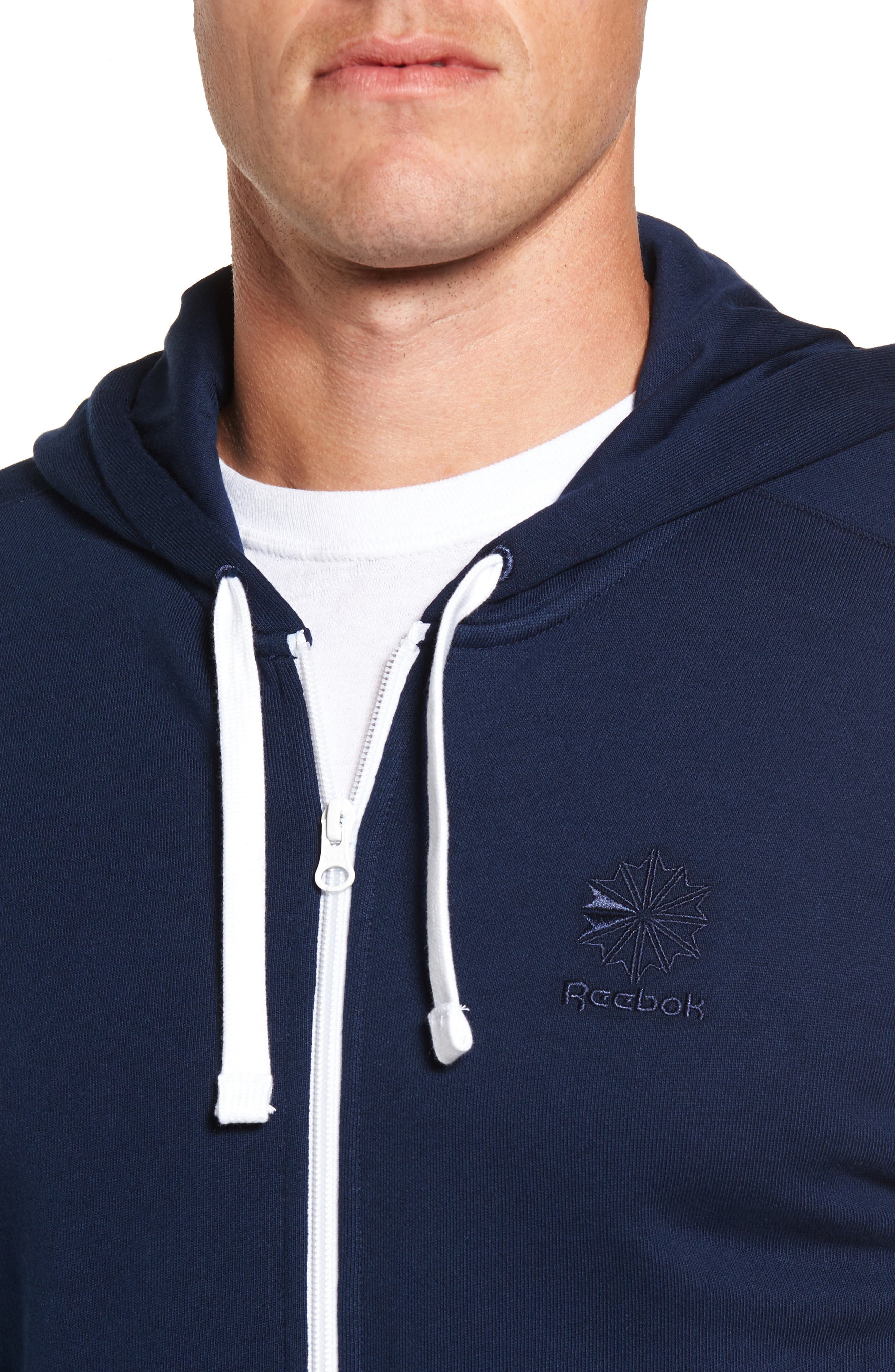 Classic Graphic Zip Hoodie,                             Alternate thumbnail 8, color,