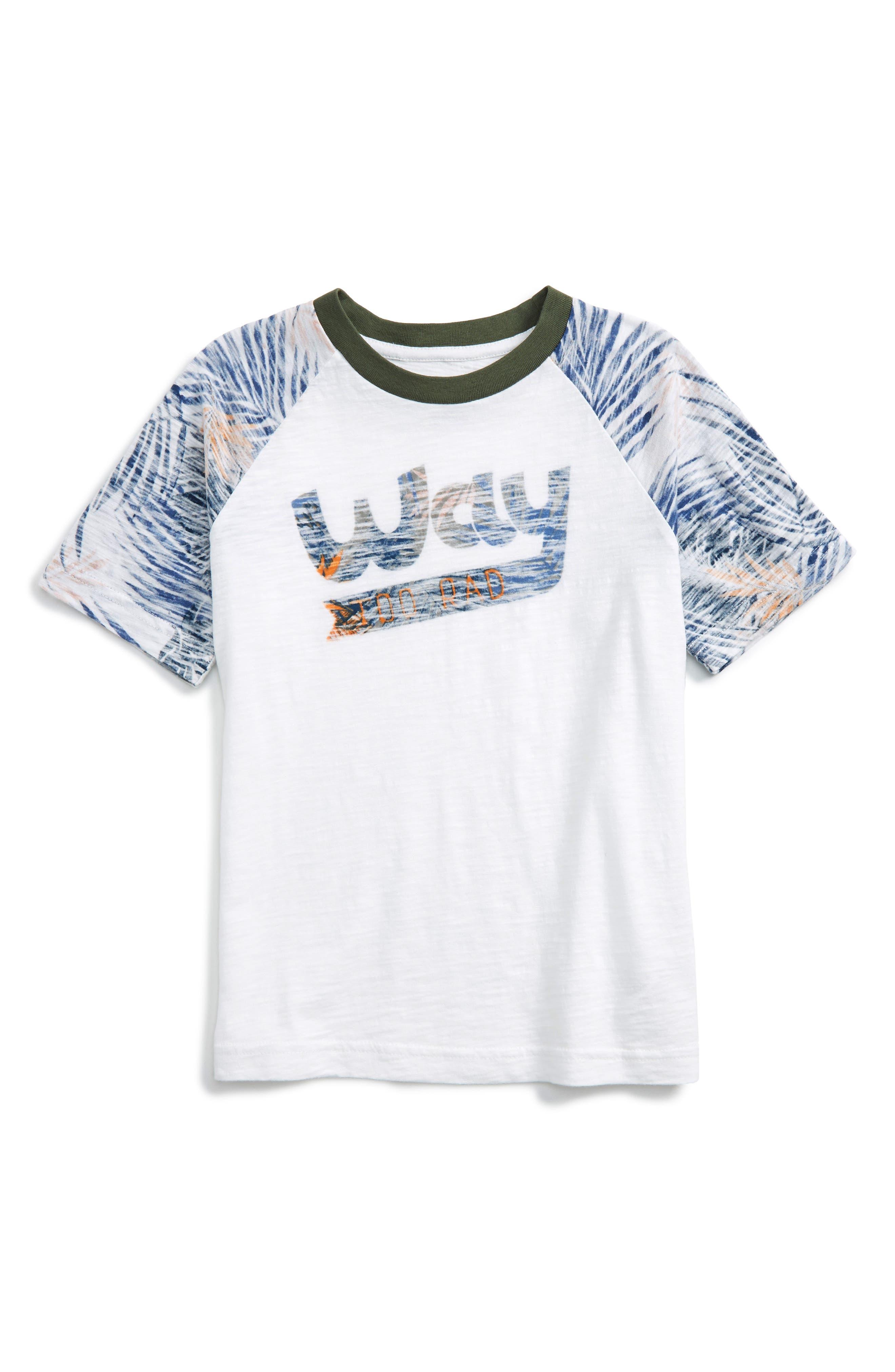 Palm Reverse Print T-Shirt,                         Main,                         color, 100
