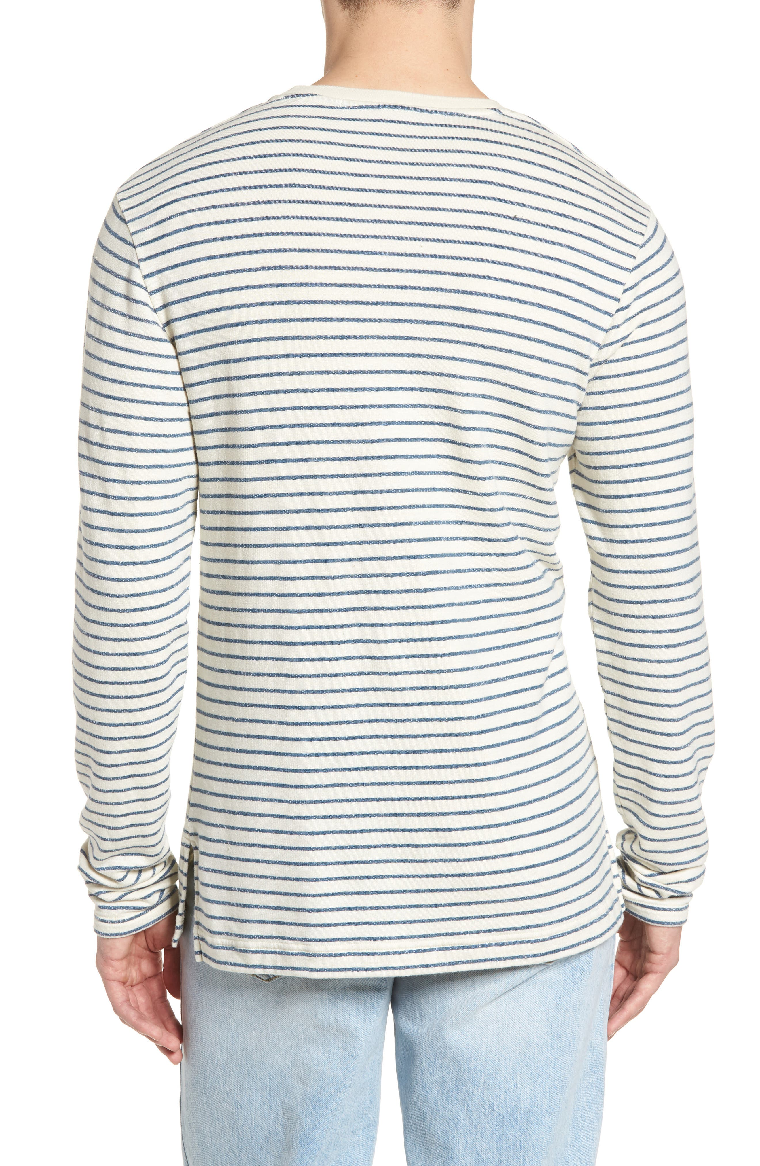 Stripe Crewneck Sweater,                             Alternate thumbnail 2, color,                             250
