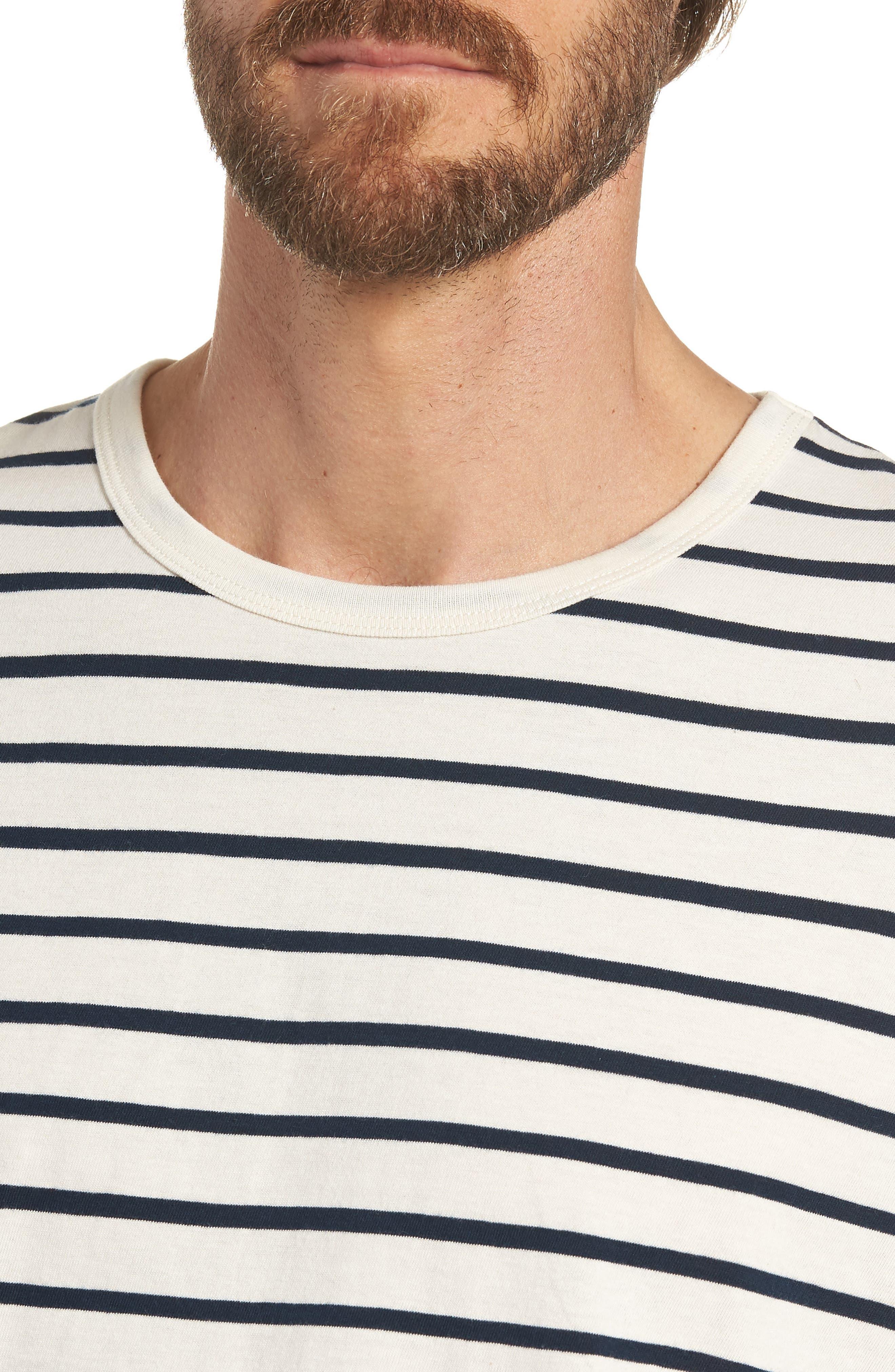 Mercantile Stripe Long Sleeve T-Shirt,                             Alternate thumbnail 4, color,                             100