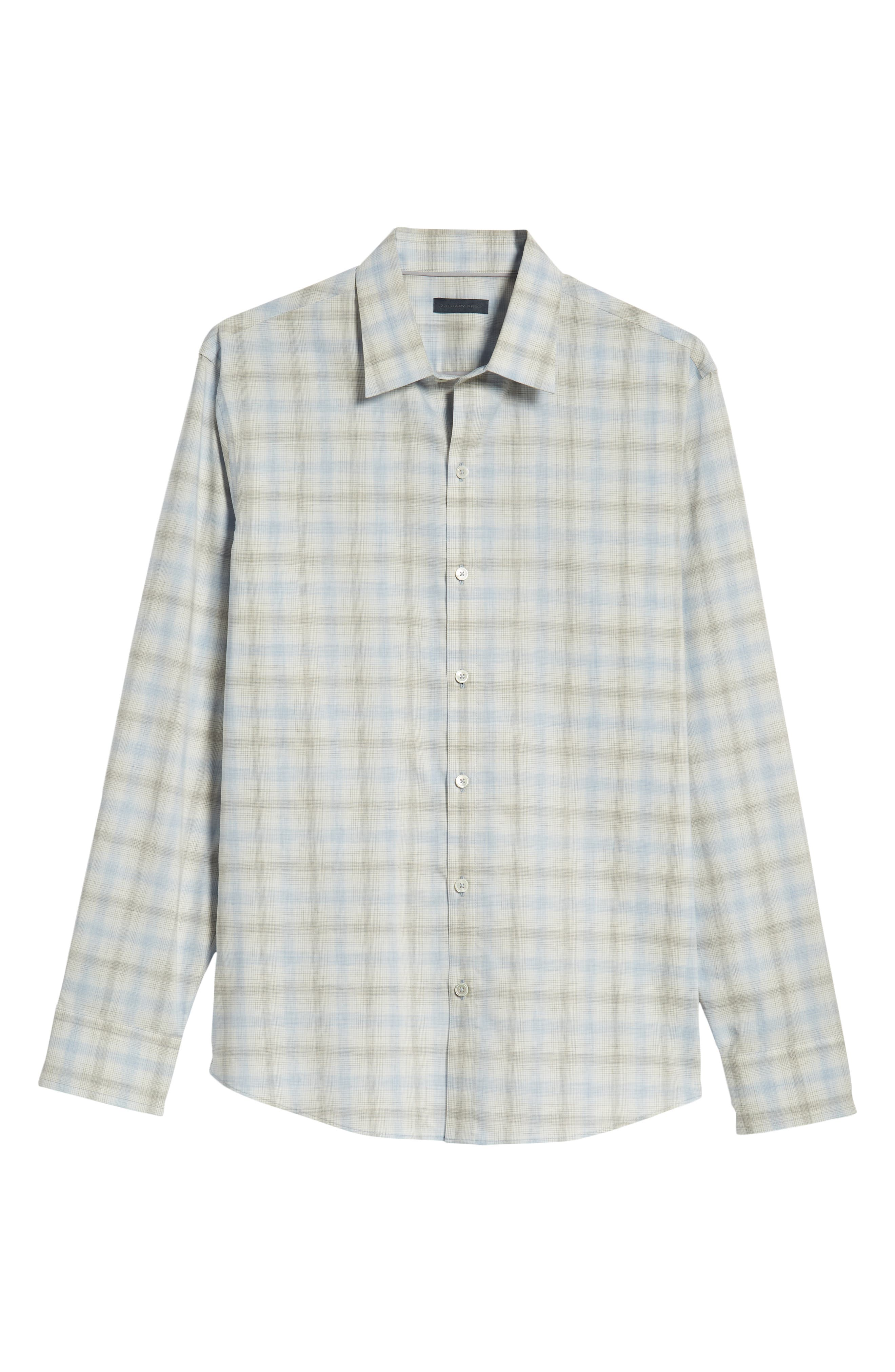 Mourad Regular Fit Sport Shirt,                             Alternate thumbnail 5, color,                             LIGHT GREY