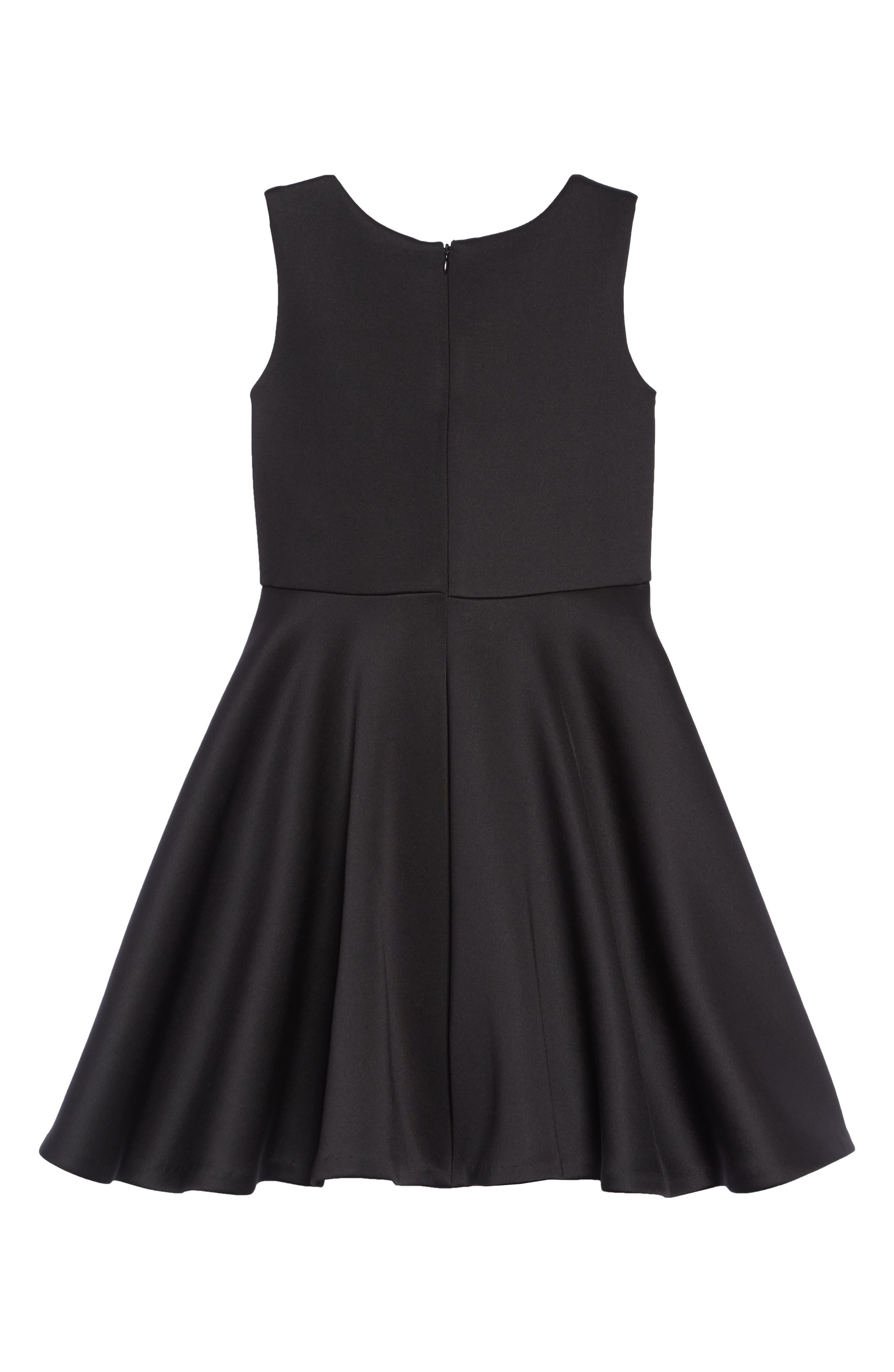 Scuba Tank Dress,                             Alternate thumbnail 2, color,                             BLACK