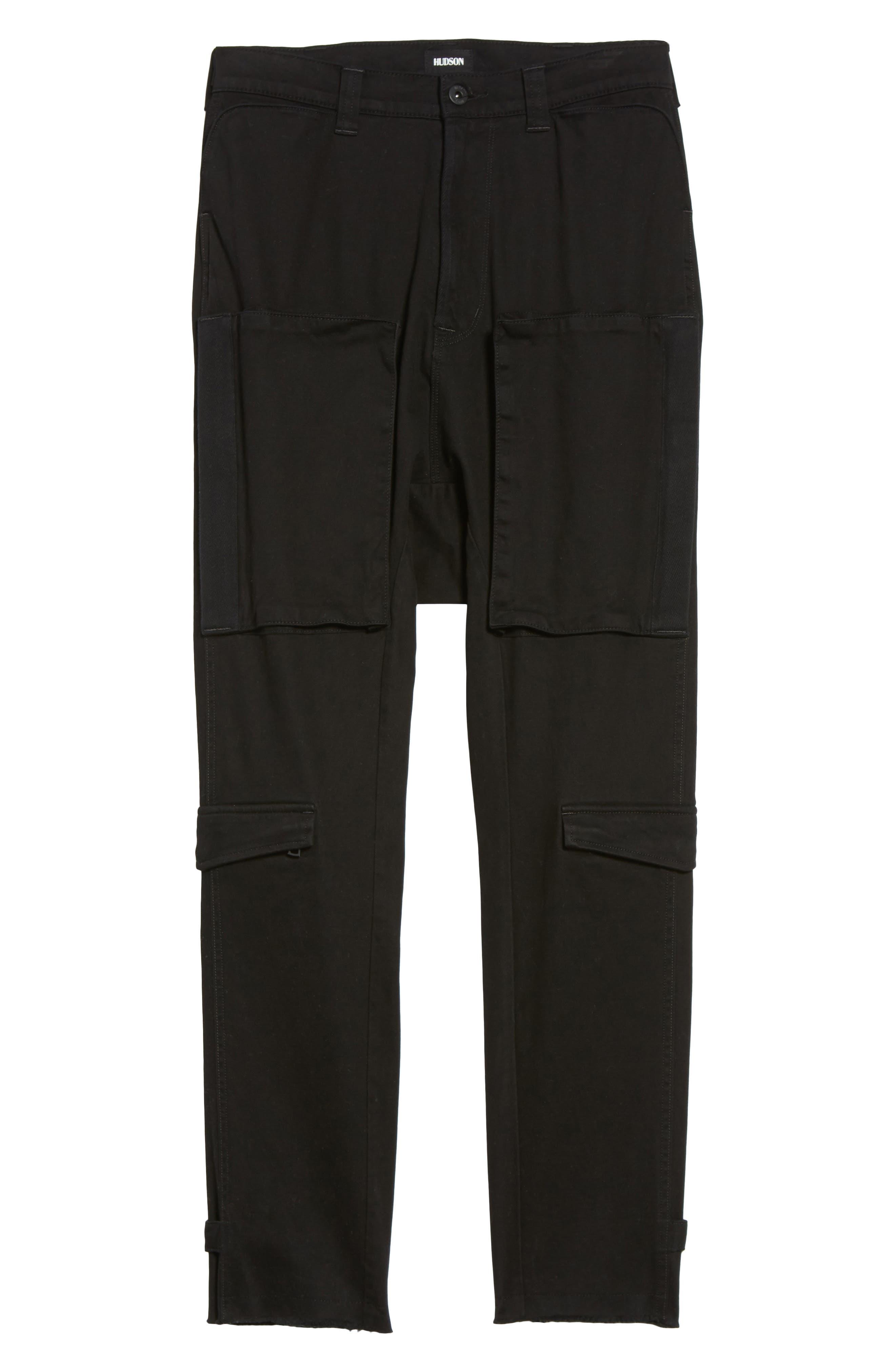 Quint Slouchy Leg Cargo Pants,                             Alternate thumbnail 6, color,                             001