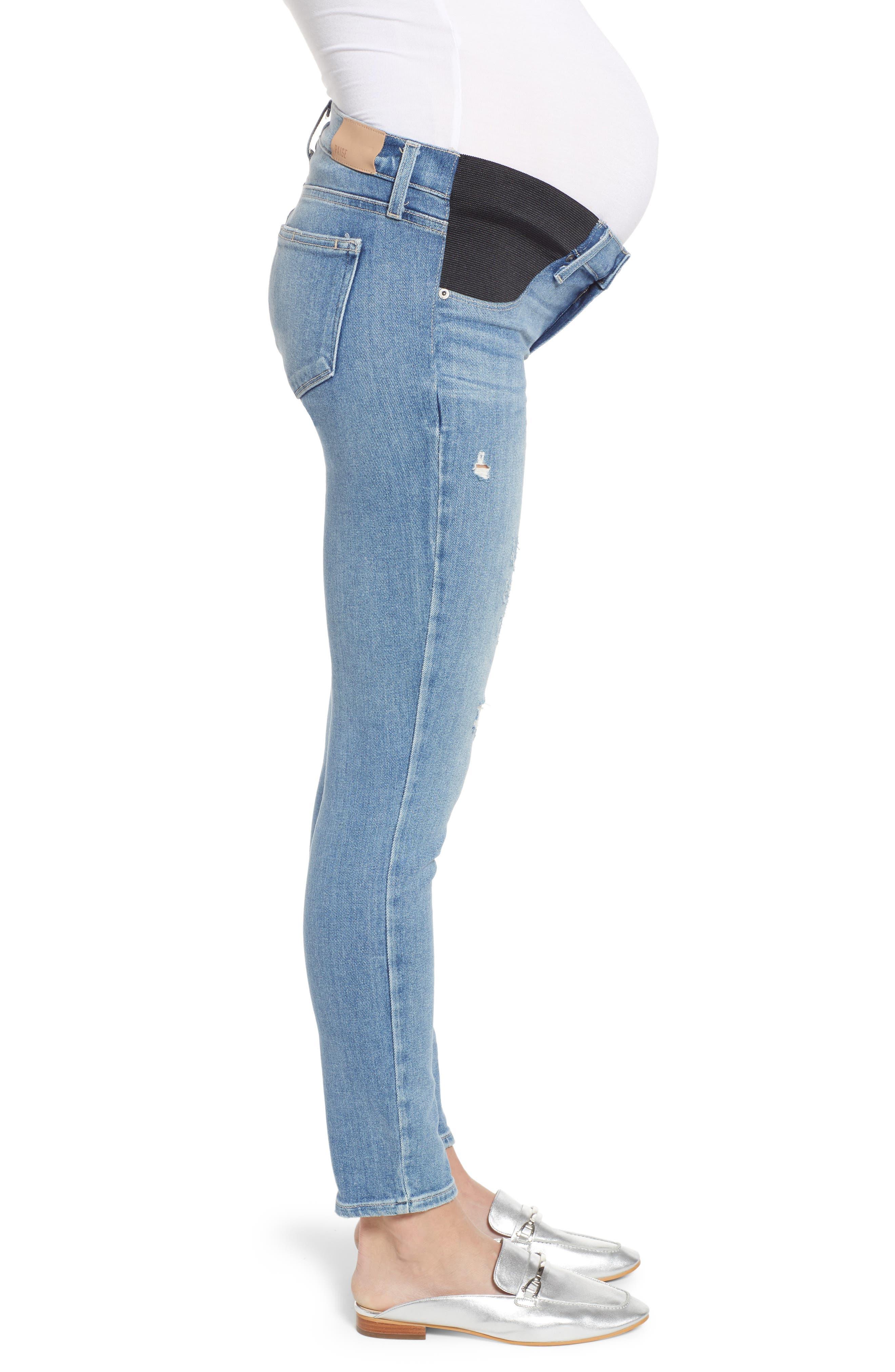 Verdugo Distressed Ankle Skinny Maternity Jeans,                             Alternate thumbnail 3, color,                             KAYSAN DISTRESSED