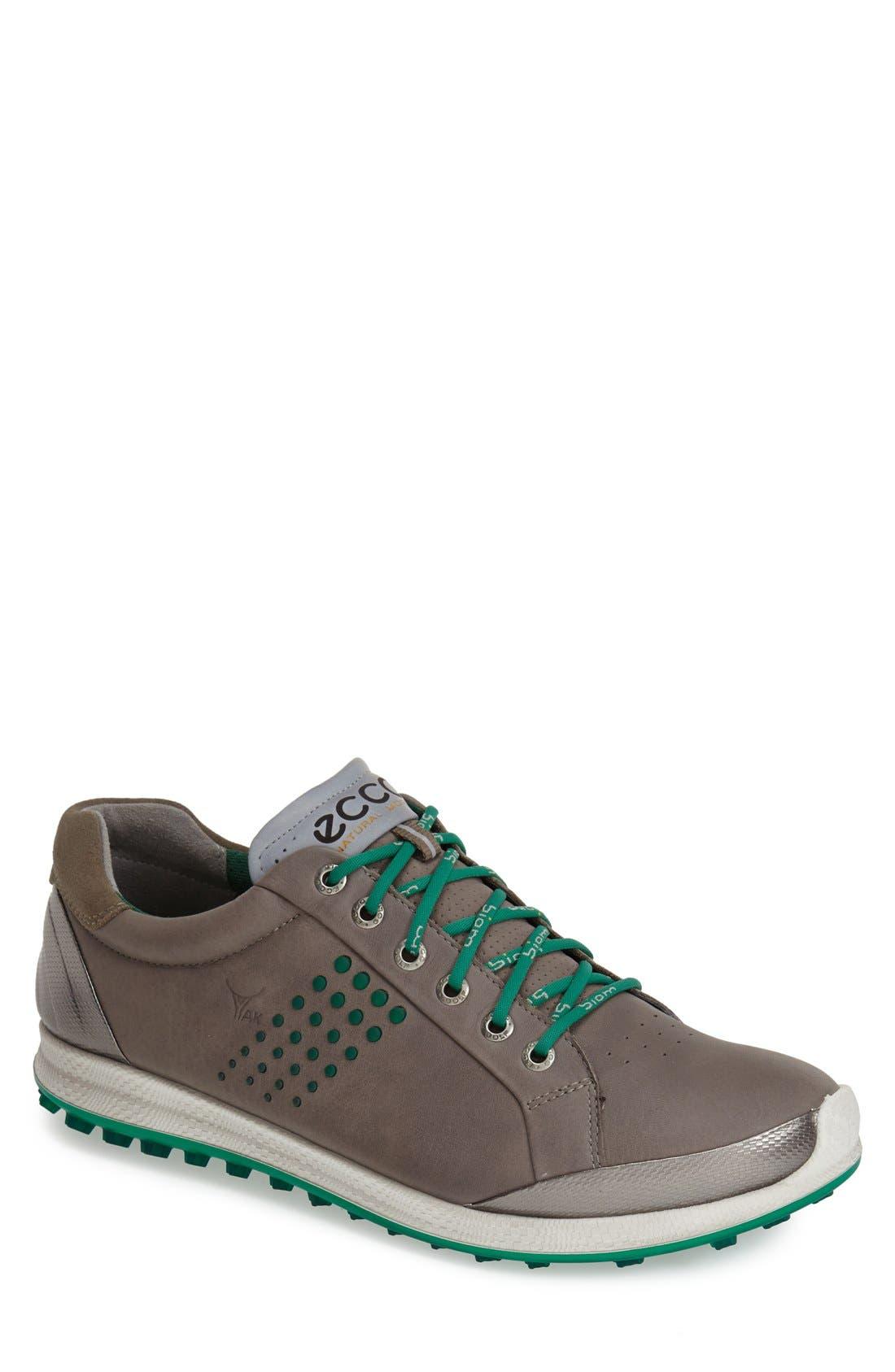 BIOM Hybrid 2 Golf Shoe,                         Main,                         color, WARM GREY/ GREEN