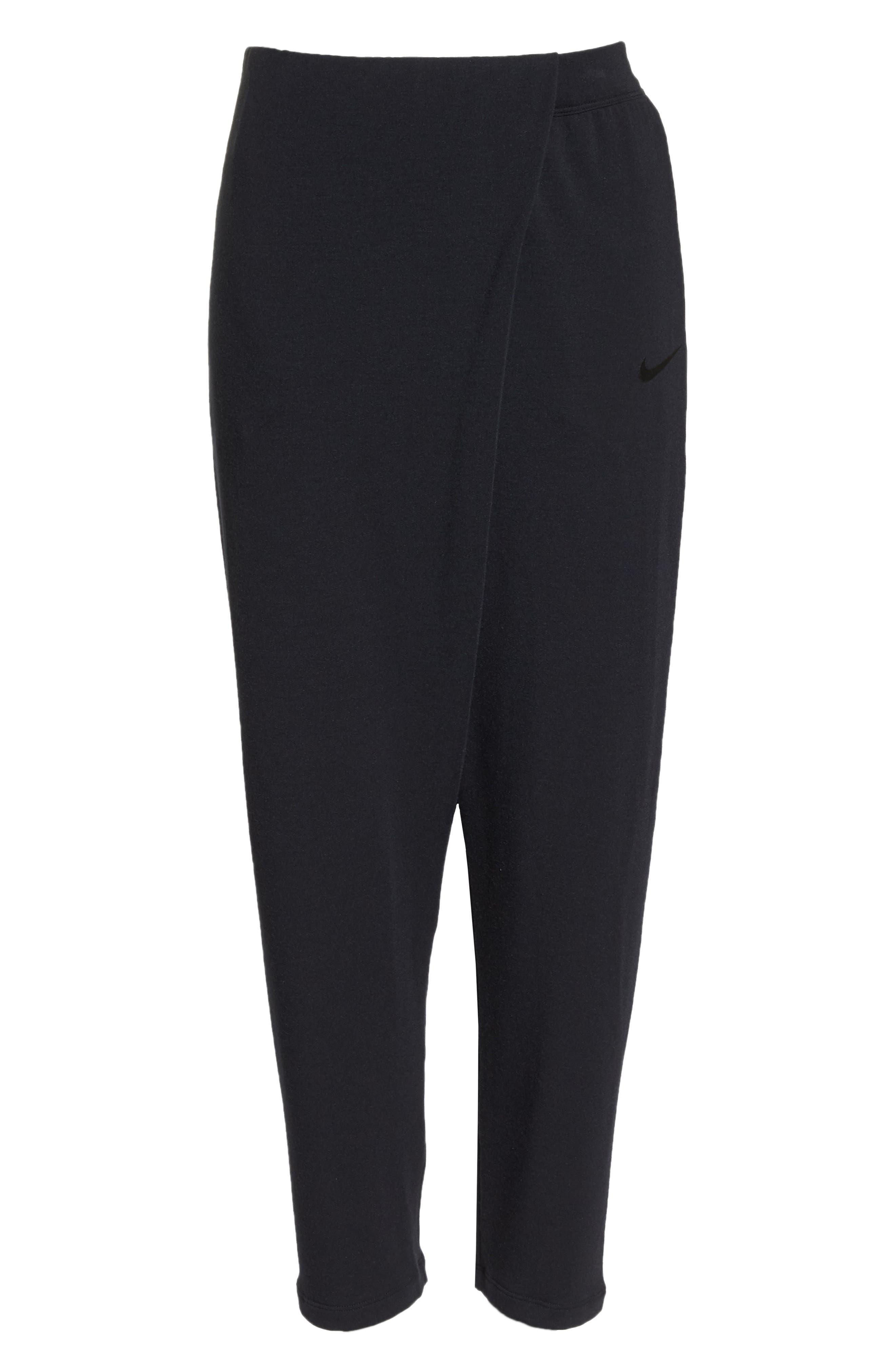 NIKE,                             Dry Studio Training Pants,                             Alternate thumbnail 7, color,                             BLACK/ BLACK